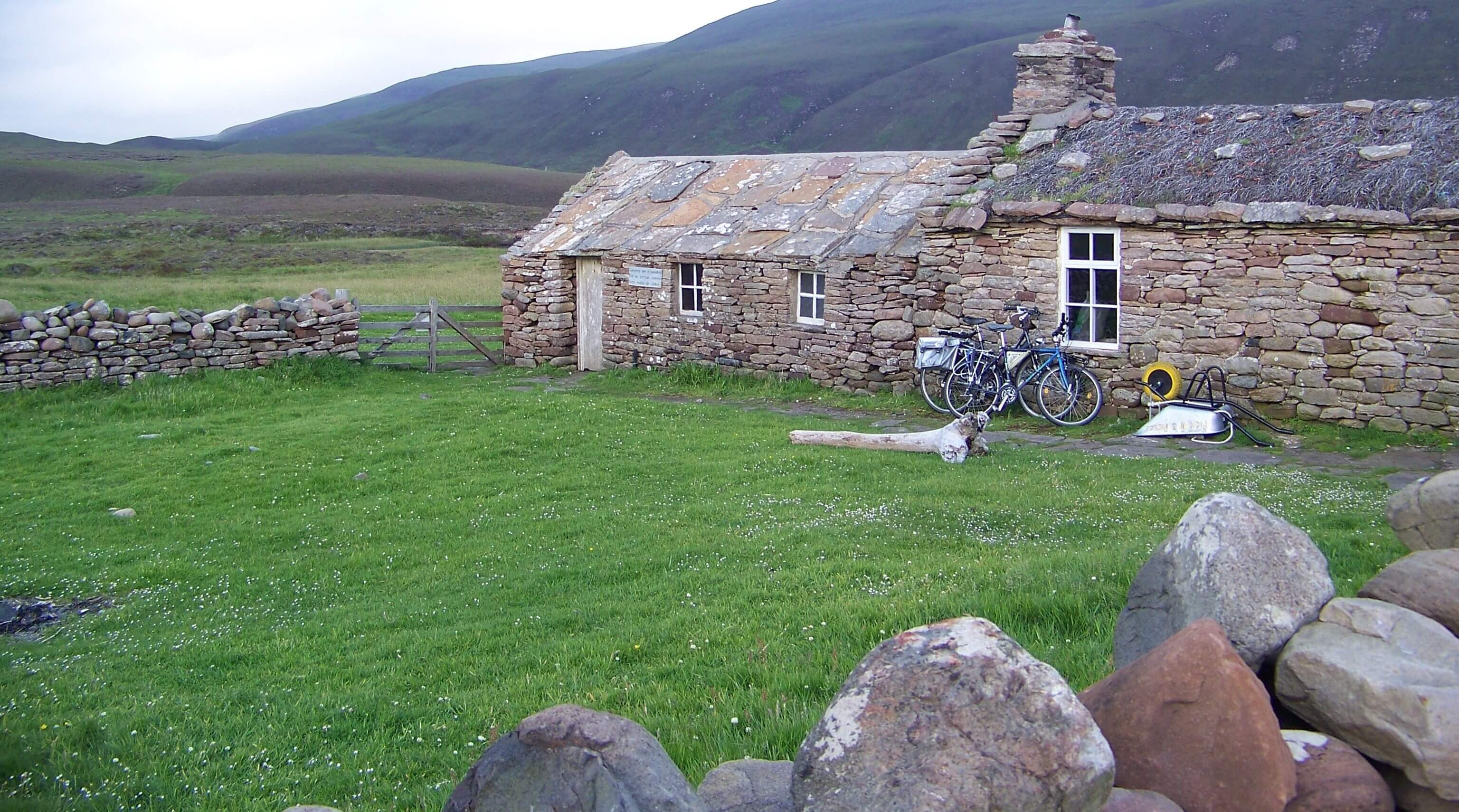 Visitors' bicycles outside the bothy - Hoy, Orkney
