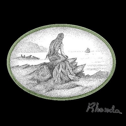 Bryce Wilson' mermaid illustration from Tom Muir's The Mermaid Bride