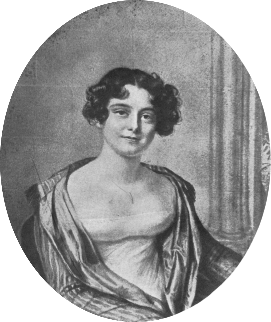 Portrait of Lady Jane Franklin at 24