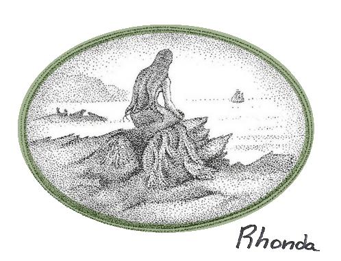 Bryce Wilson's mermaid illustration from Tom Muir's book of Orkney folklore, The Mermaid Bride