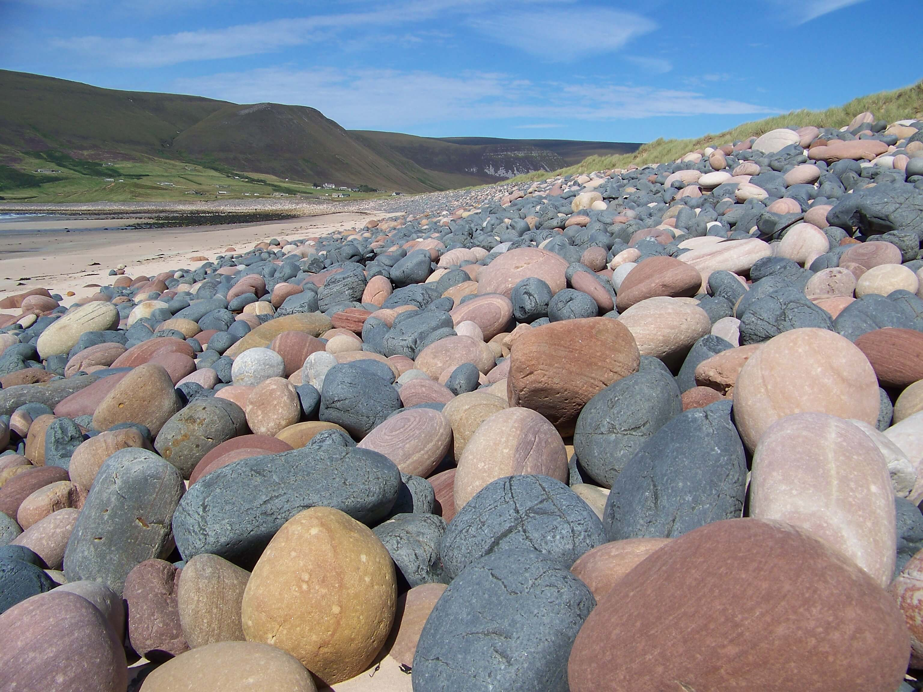 Striped boulders on Rackwick Beach, Hoy Orkney