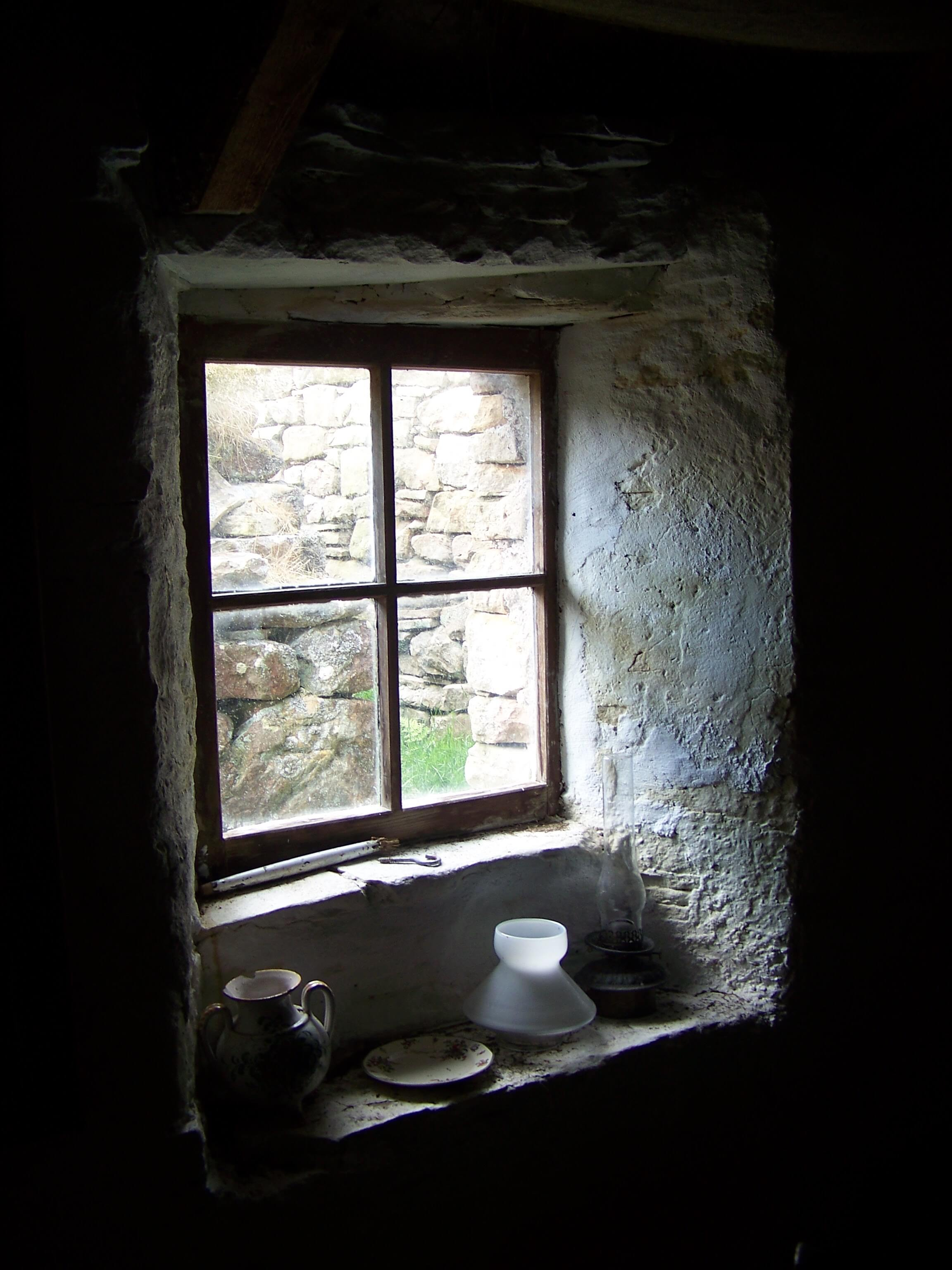 Window in the Craa's Nest Museum, Hoy, Orkney