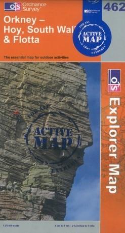 OS Explorer Map - Hoy, Orkney, Scotland. www.Orkneyology.com