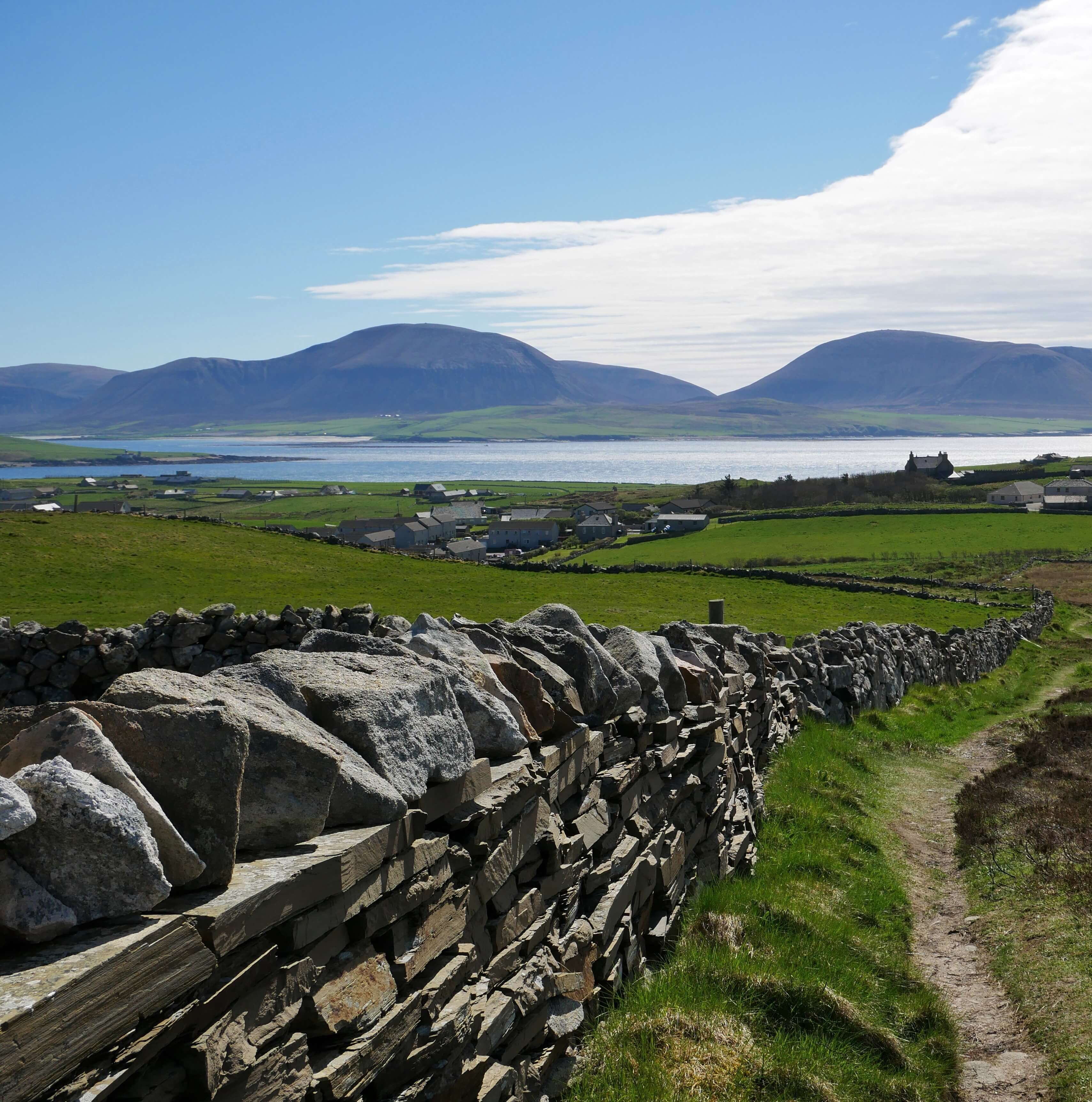 View of Hoy Hills from Brinkie's Brae, Stromness, Orkney, Scotland