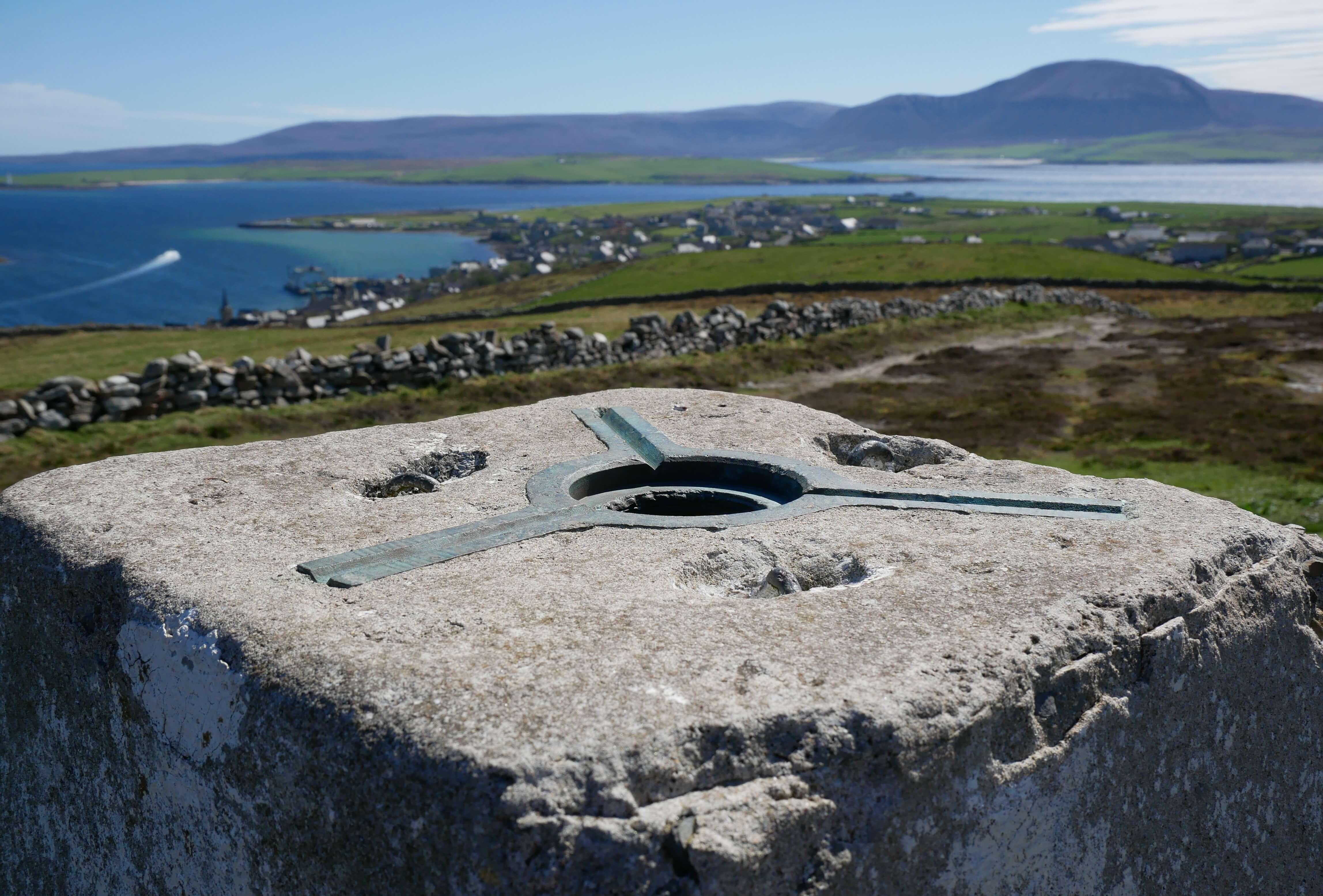 Trig point 1639, Brinkie's Brae, Stromness, Orkney, Scotland