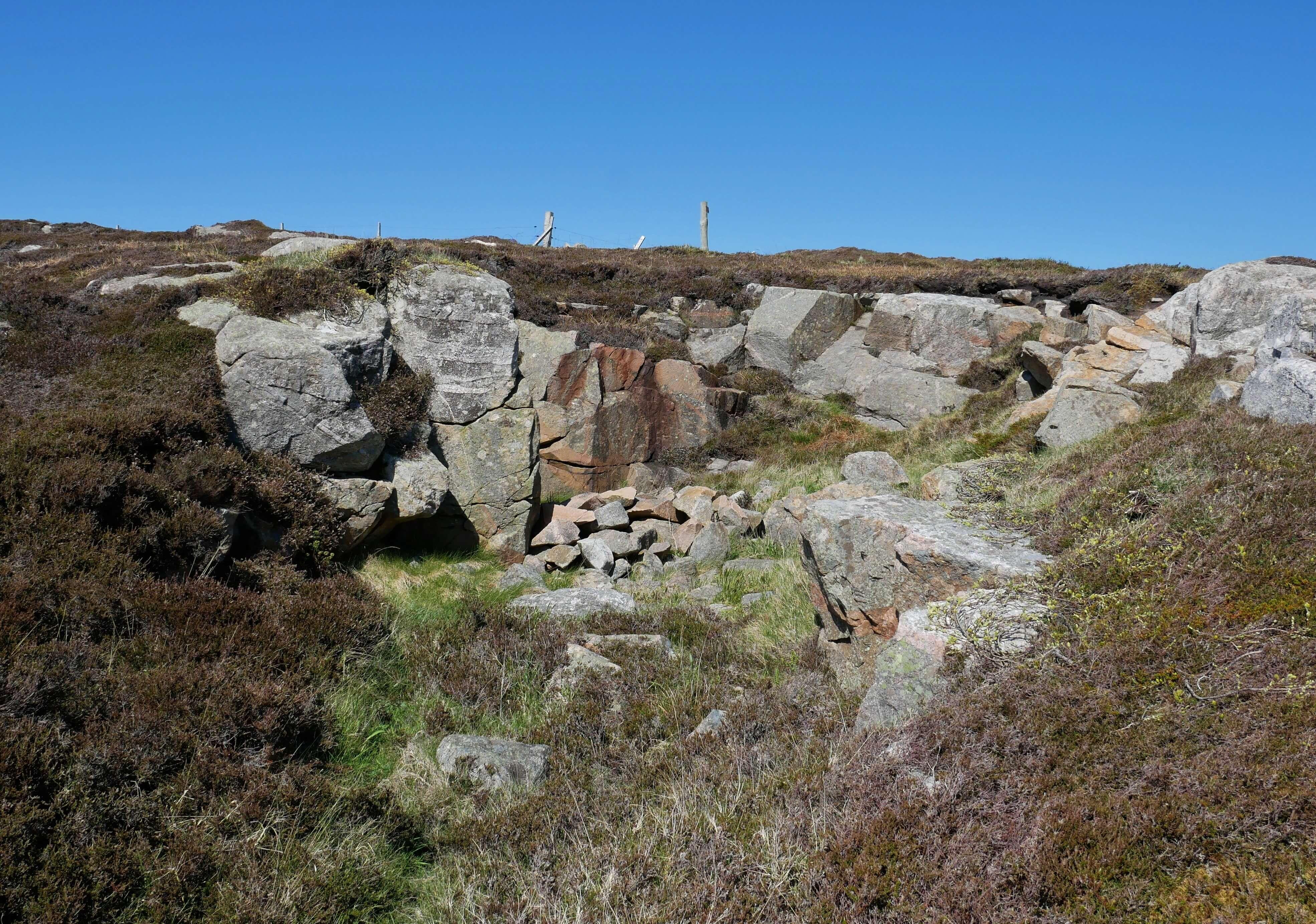 Old granite quarry on Brinkie's Brae, Stromness, Orkney, Scotland
