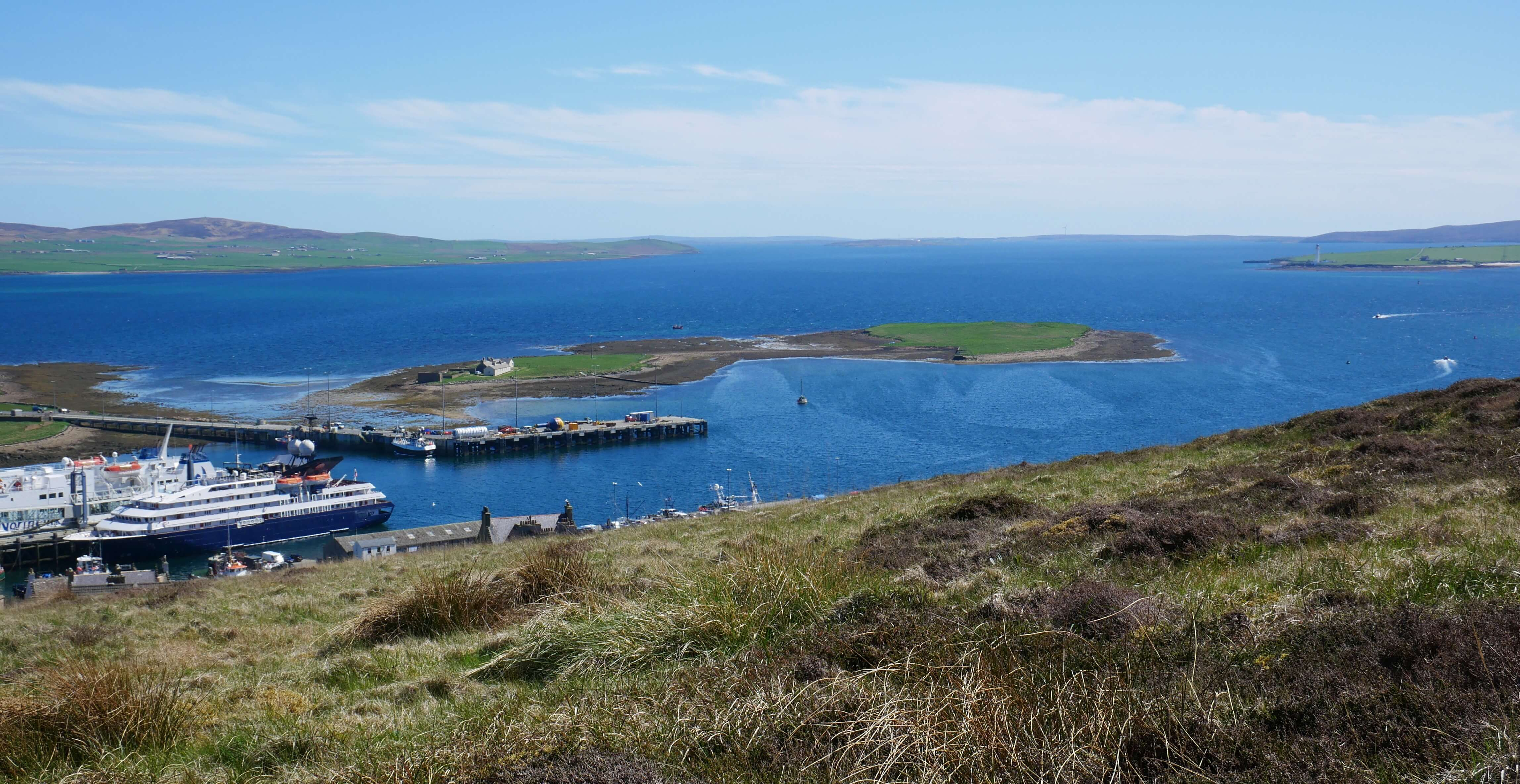 View of Stromness harbor