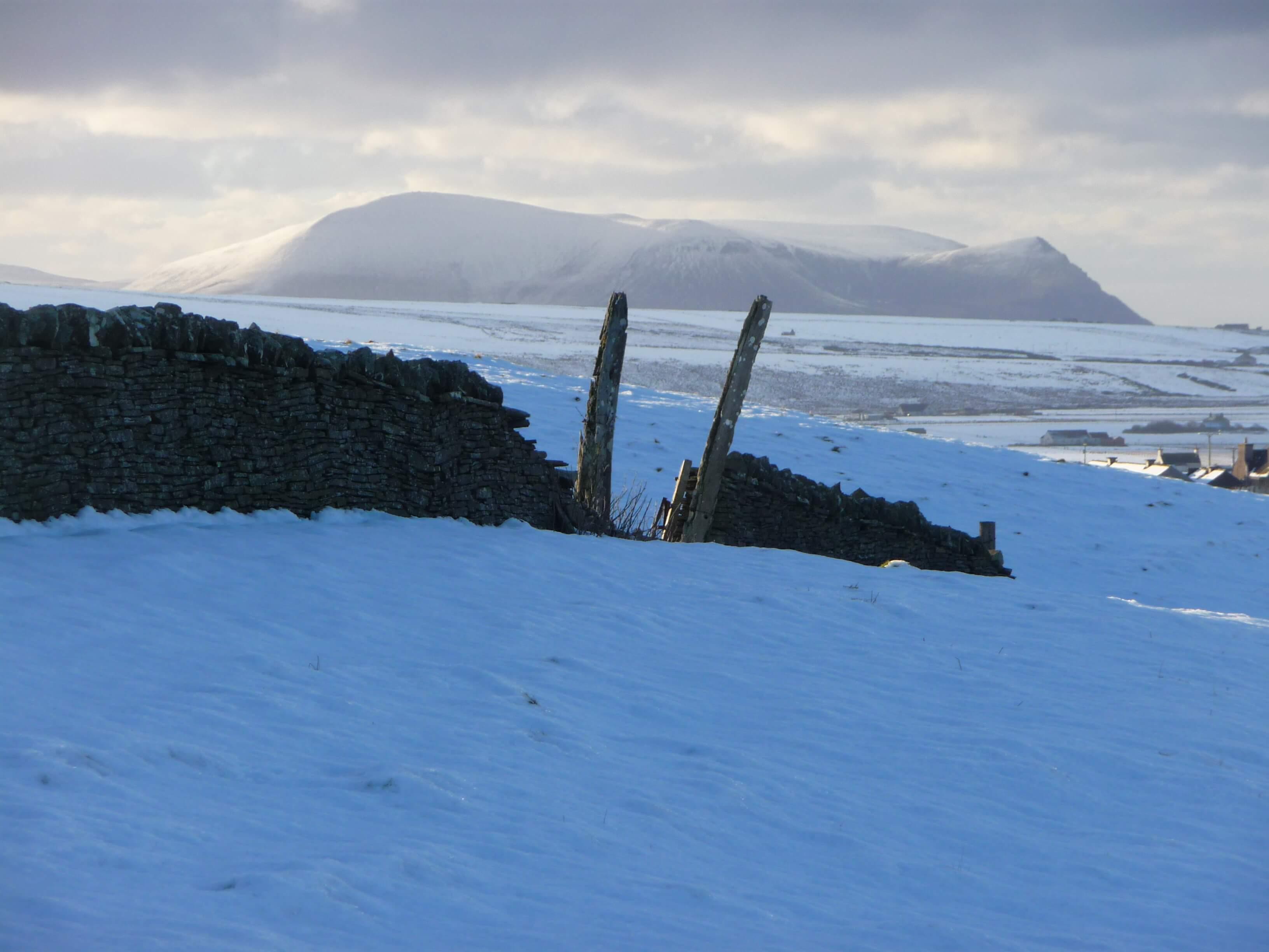 Whale bone arch near Buckle's Tower, Firth, Orkney, Scotland