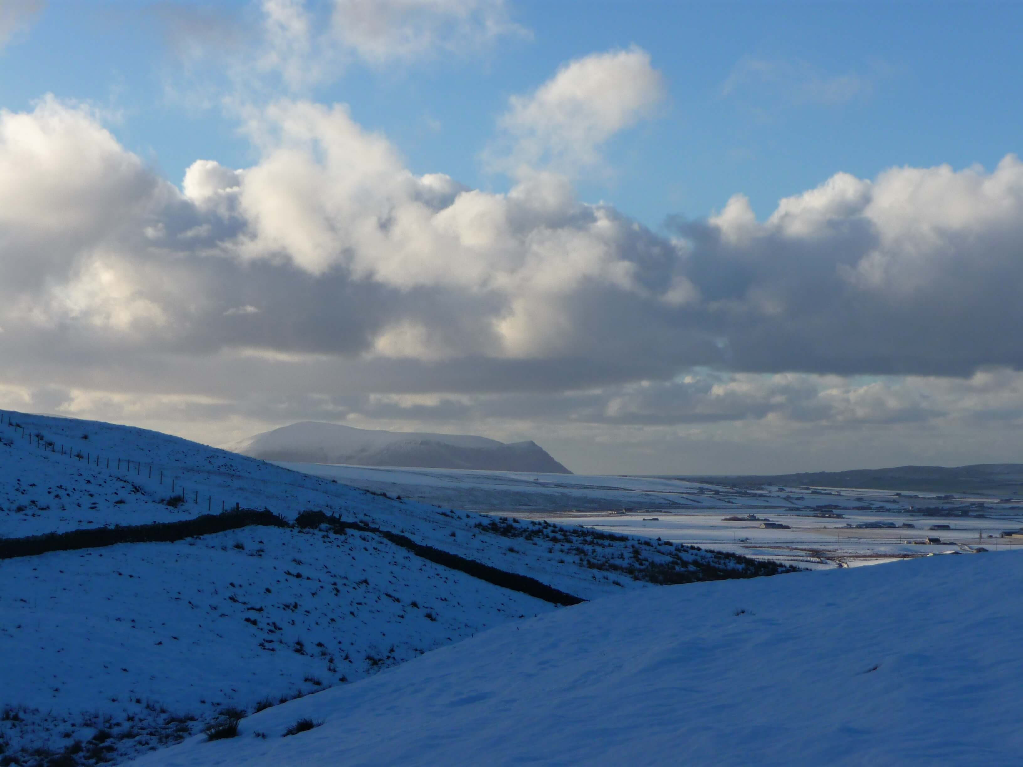 Hoy hills as seen from Buckle's Tower, Firth, Orkney, Scotland