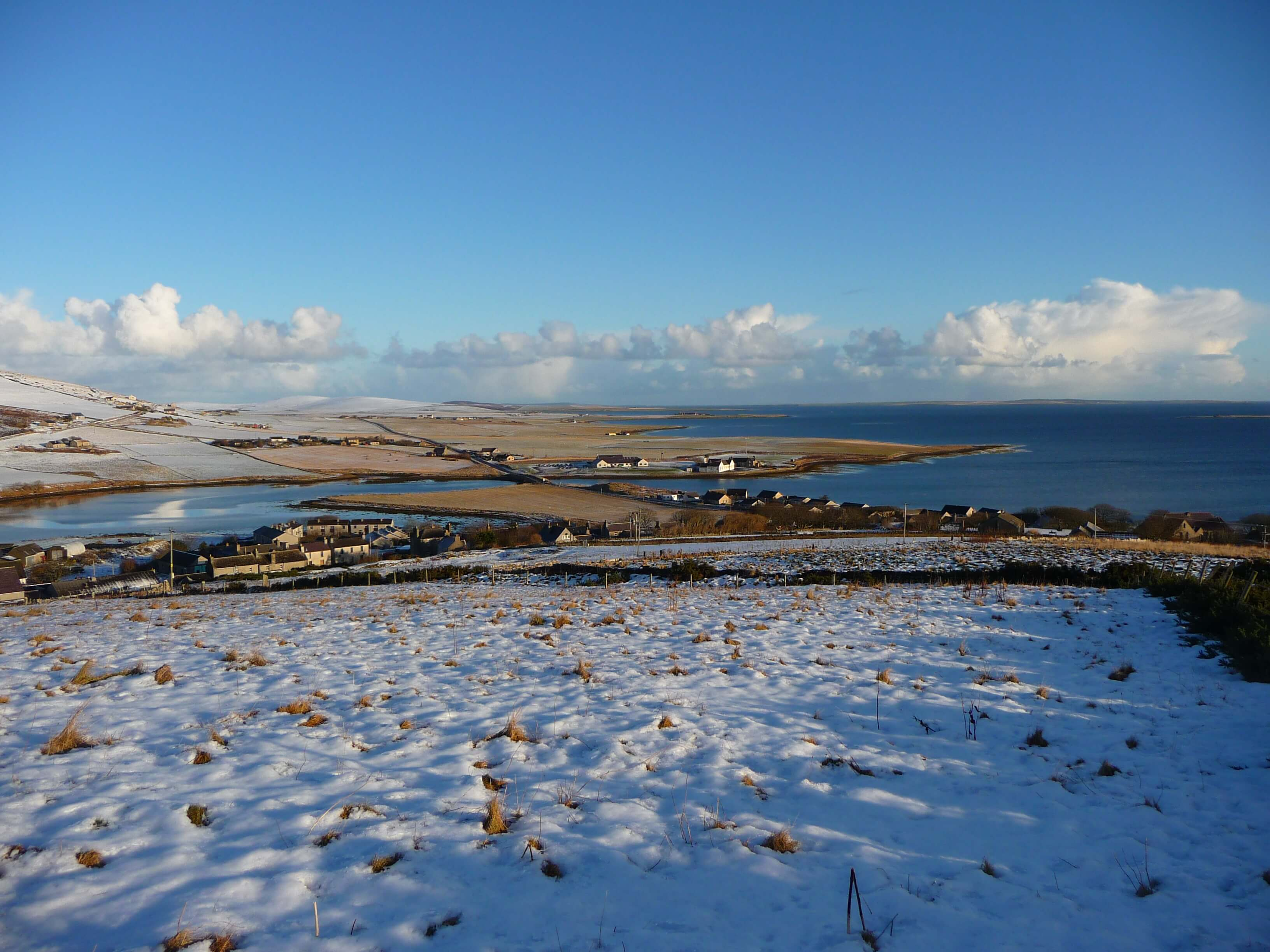 View from below the tower, Firth, Orkney, Scotland