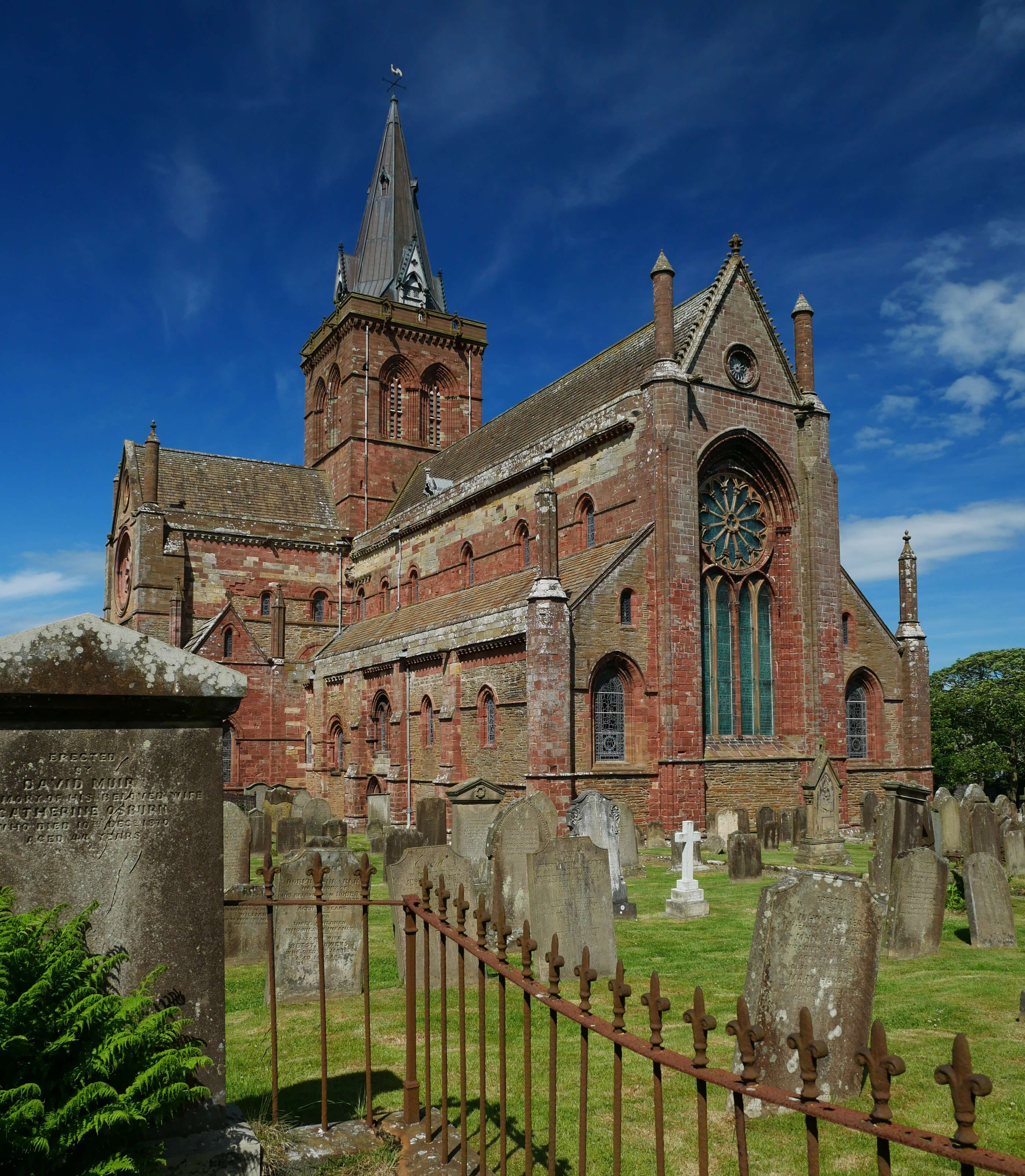 Must see St Magnus Cathedral, Kirkwall, Orkney Islands, Scotland, UK