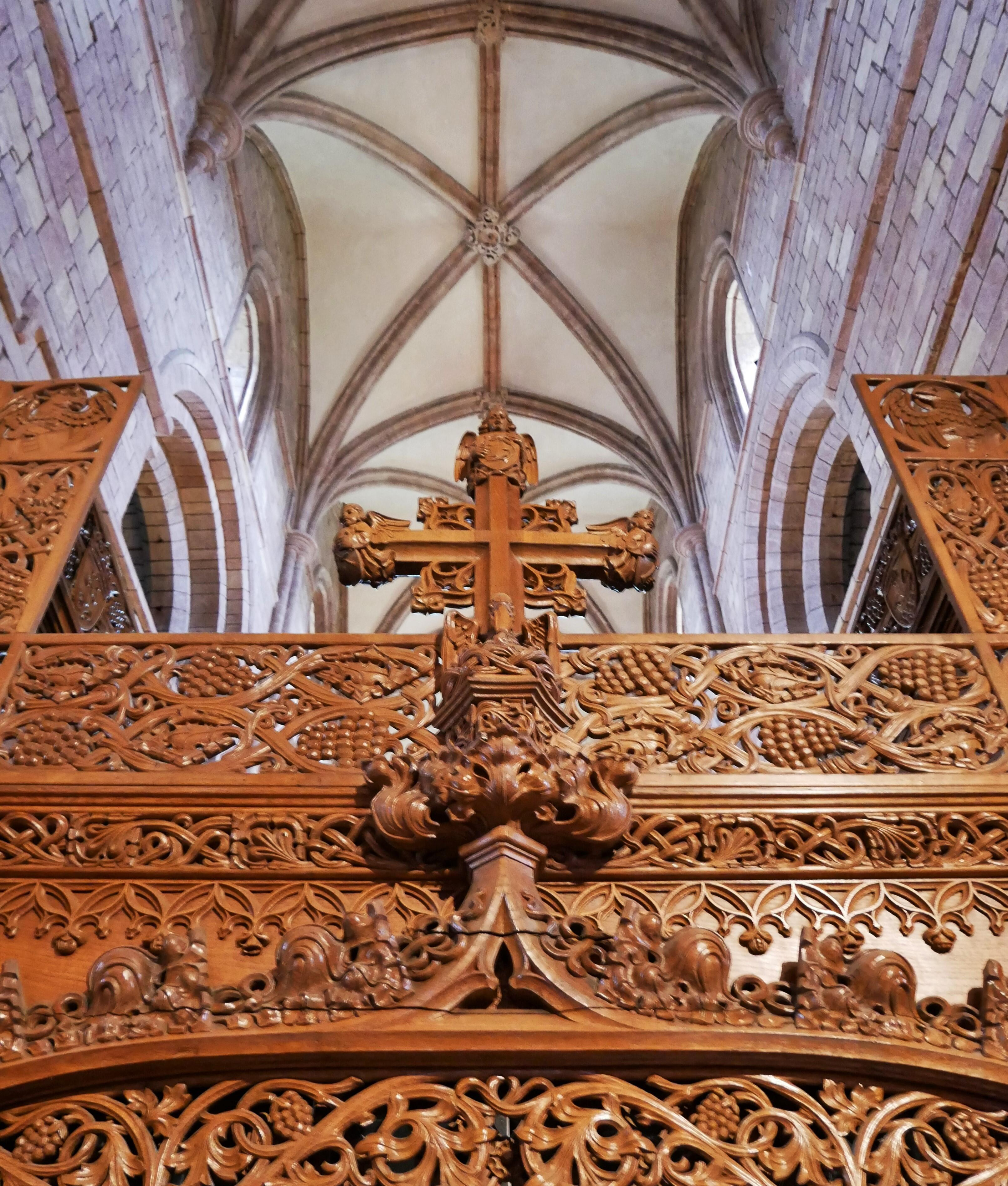 Wooden cross in a Viking-built, 12th-century cathedral - Kirkwall, Orkney Islands, Scotland, UK