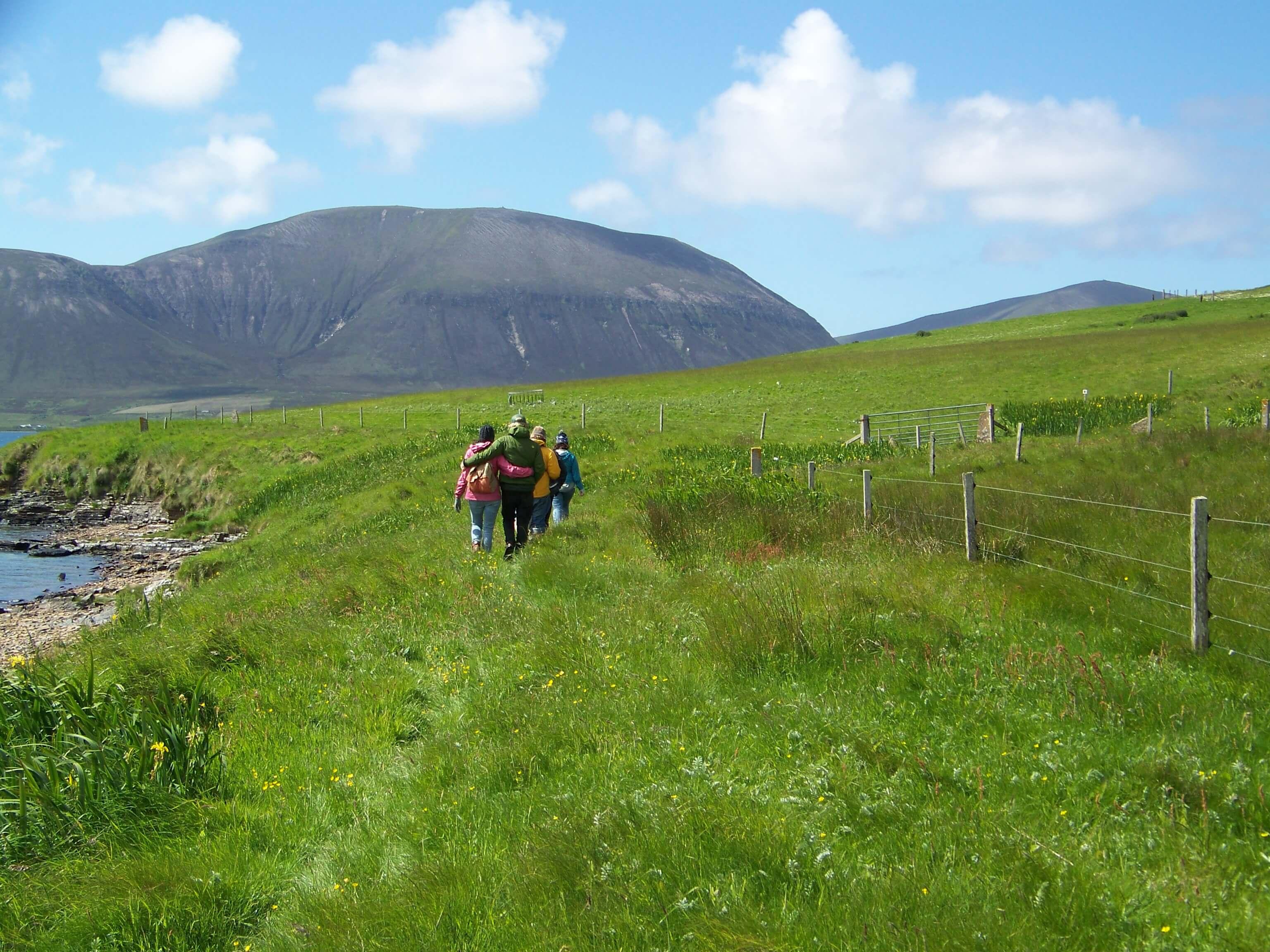 Orkney island coastal walk