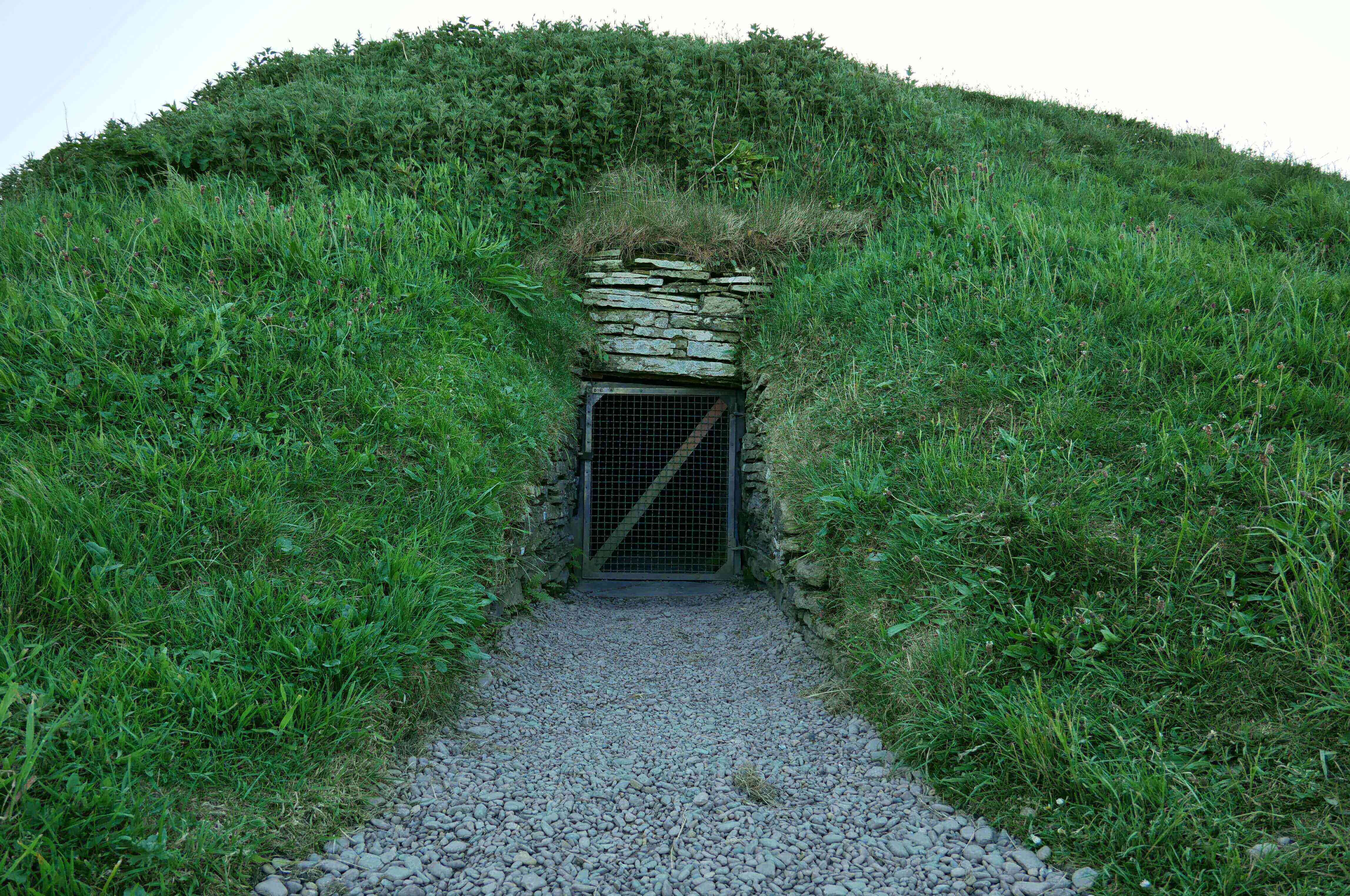 The mound at Finstown, Orkney, Scotland