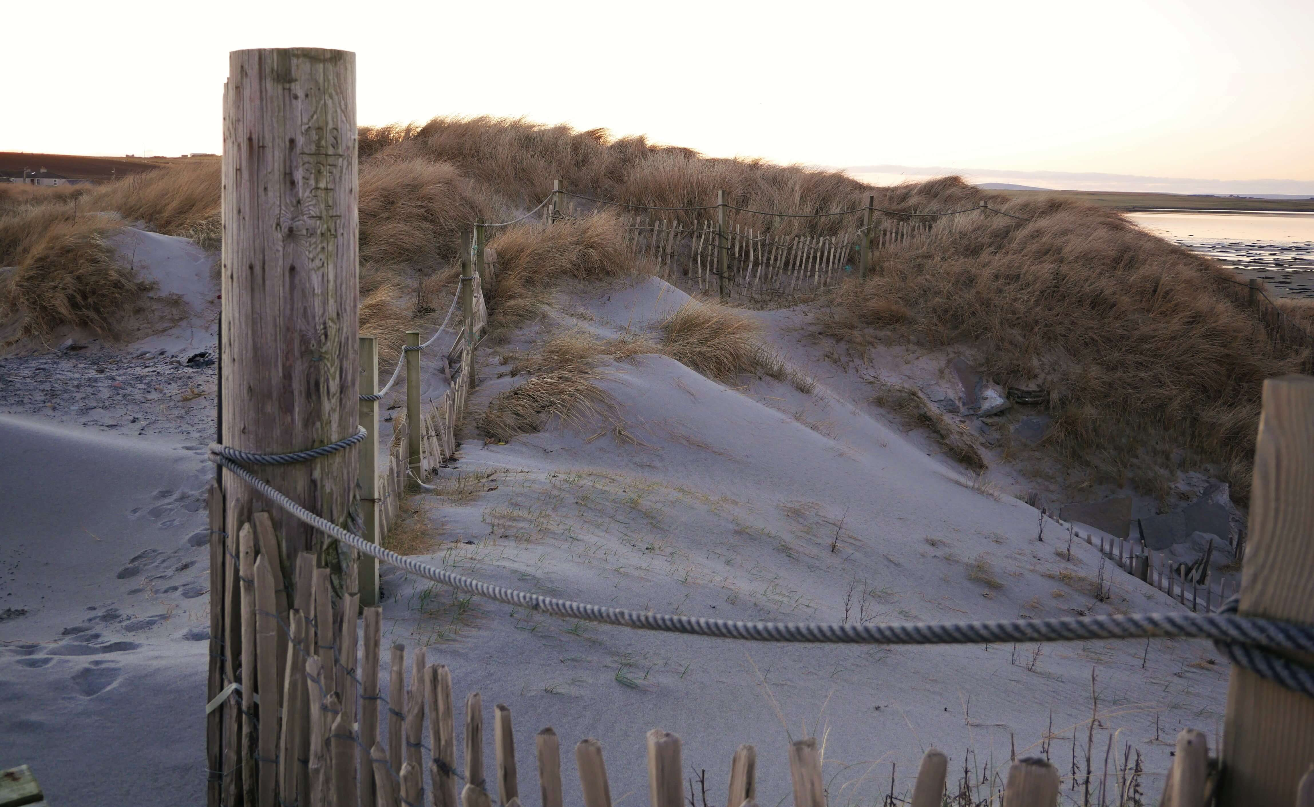 Sand dunes, Orkney, Scotland