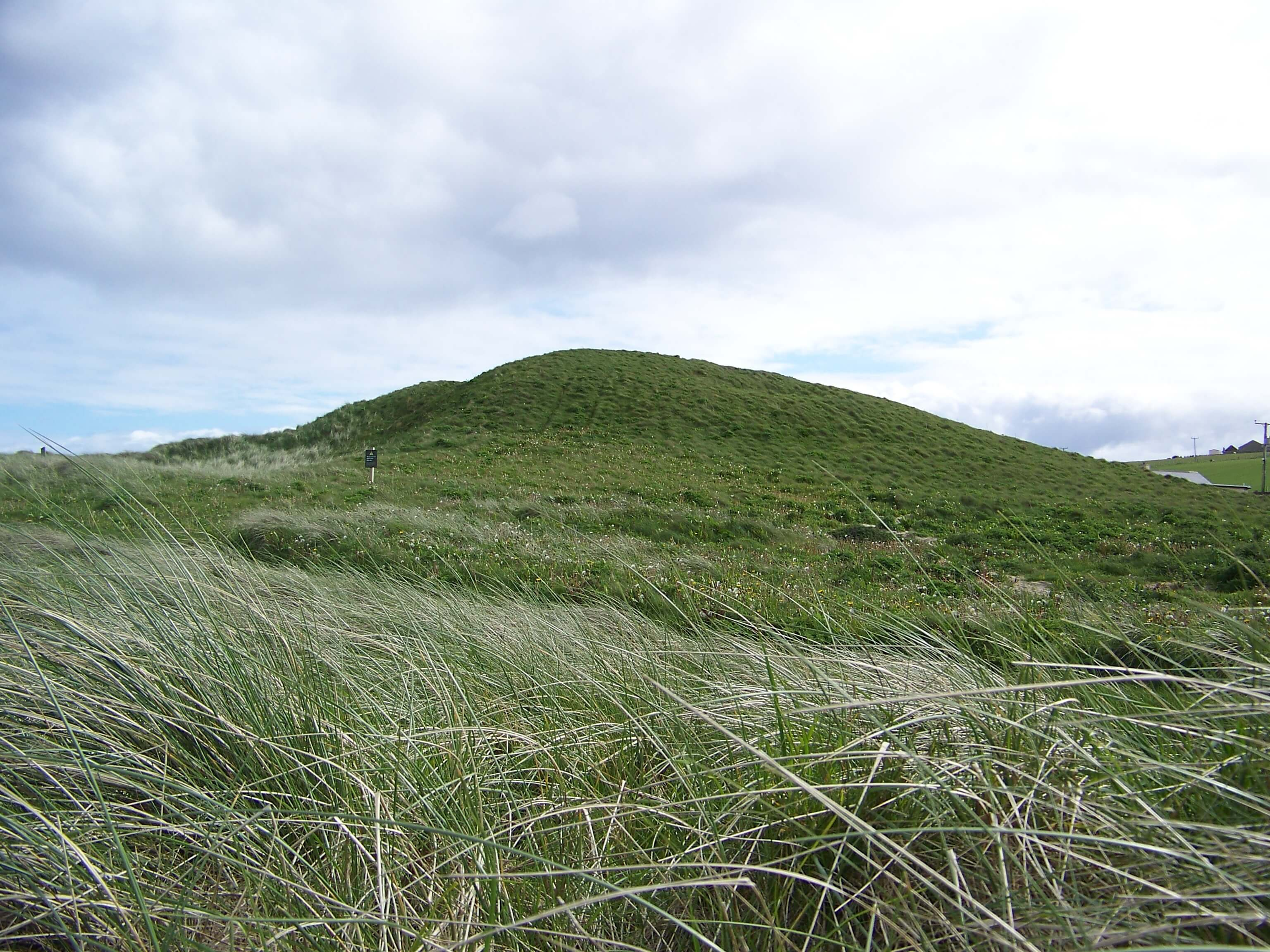 Viking thing mound at Dingieshowe, Orkney, Scotland