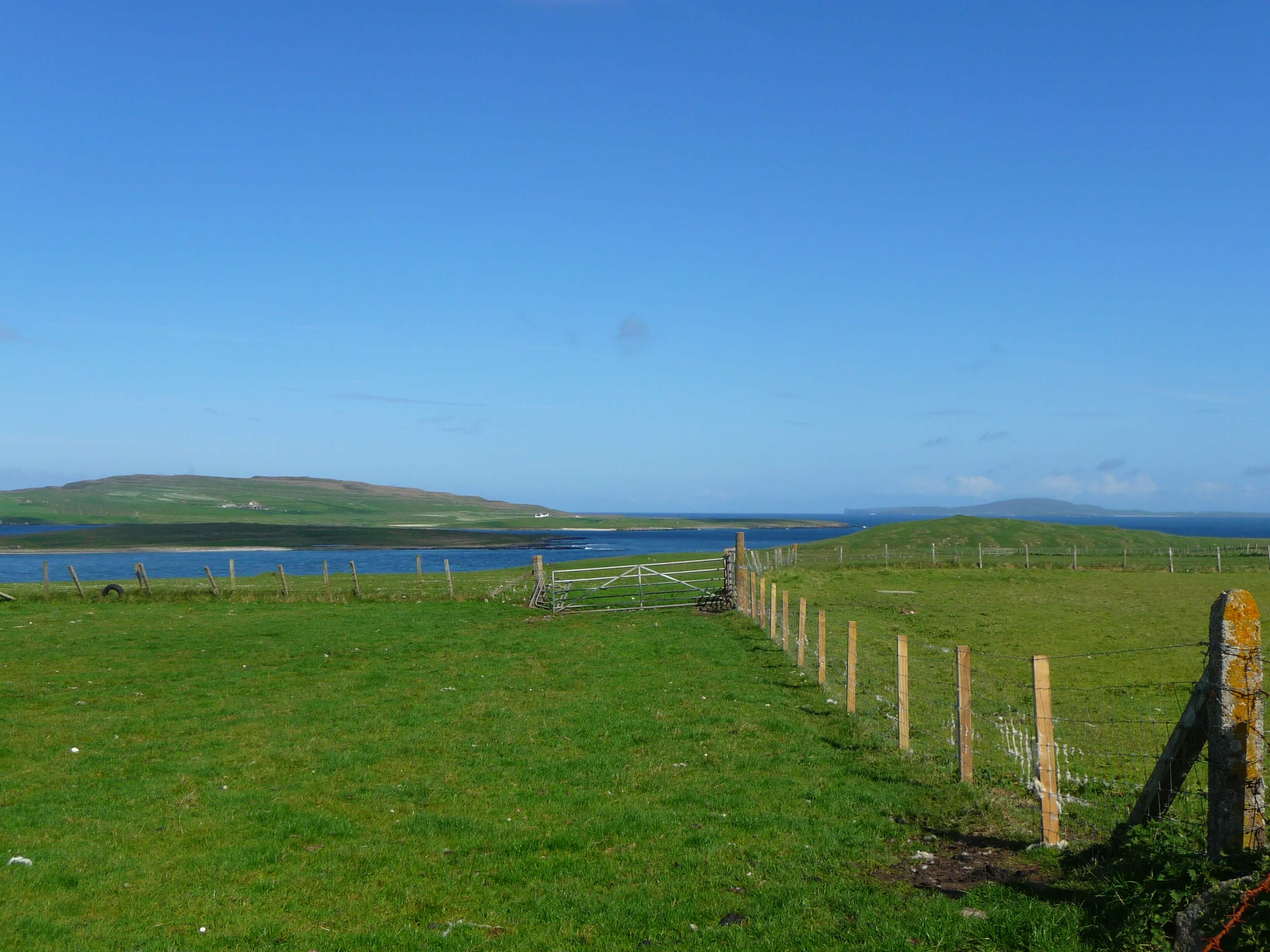 View from Egilsay, Orkney Islands, Scotland, UK