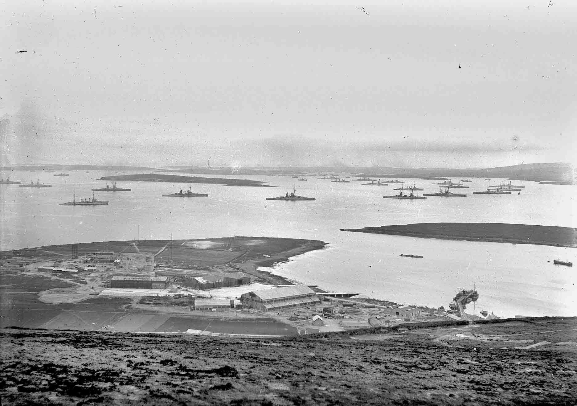 German High Seas Fleet in Orkney's Scapa Flow, WWI - photo by Tom Kent