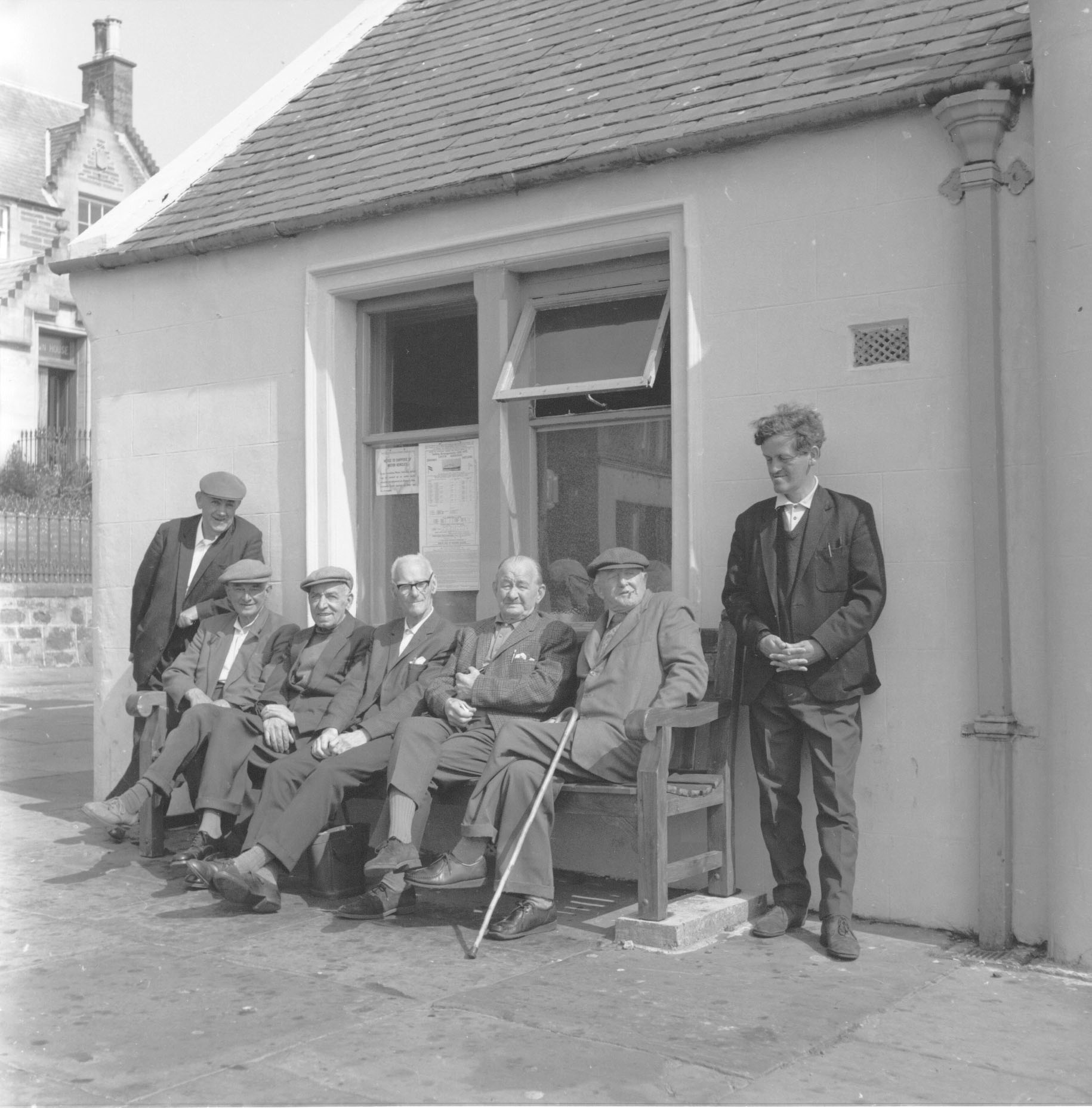 Stromness writer GMB and a group of old men affectionately known as