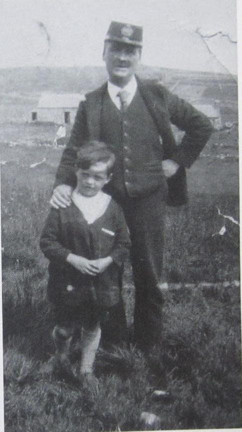 Stromness, Orkney Islands writer of Under Brinkie's Brae as a child, with his father - GMB, Orkney, Scotland