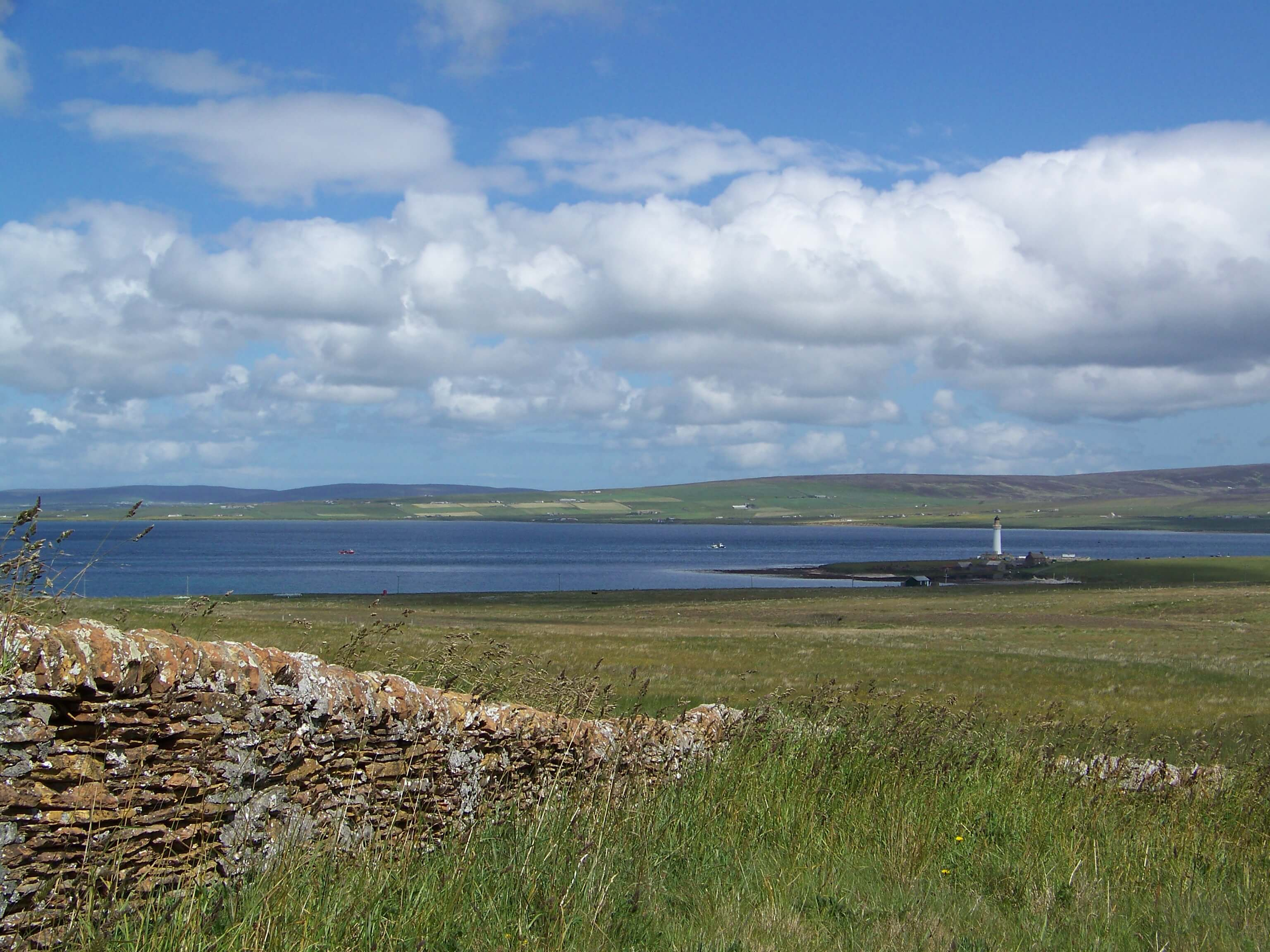 Distant view of Hoy High lighthouse, Orkney