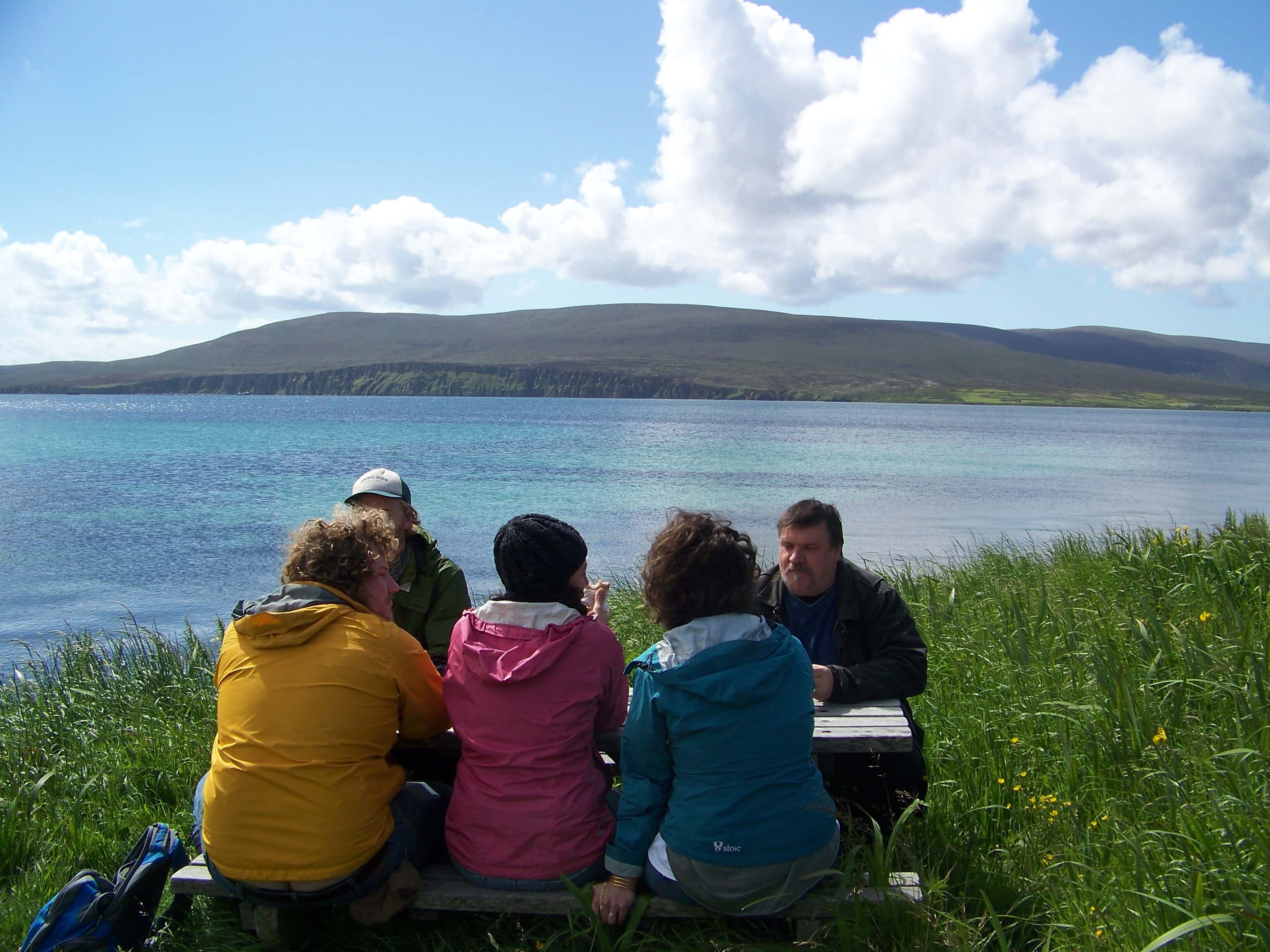 Picnic lunch on an Orkney island