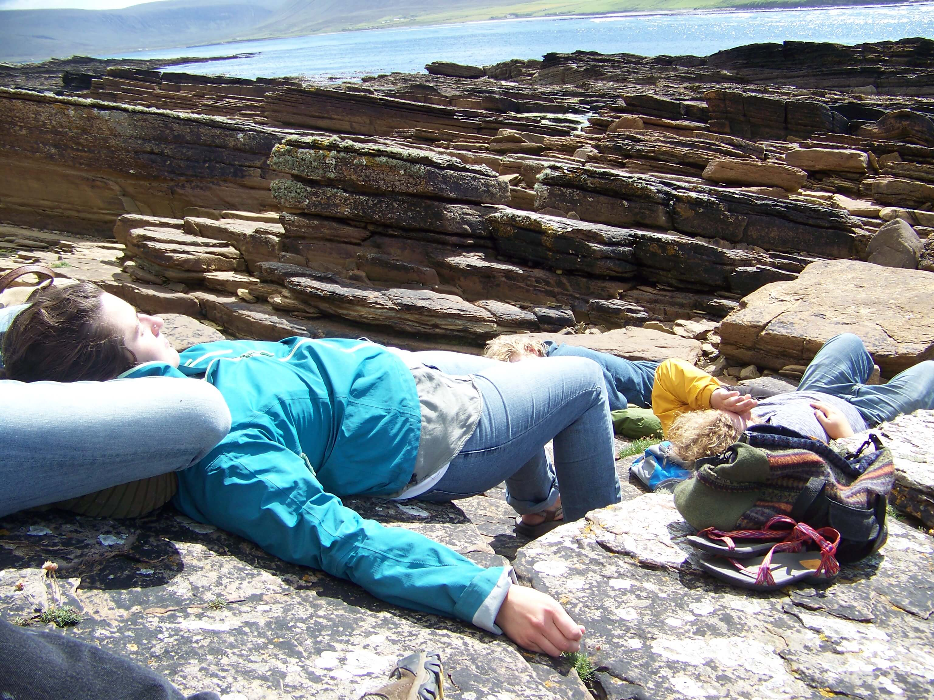 Relaxing on an Orkney beach