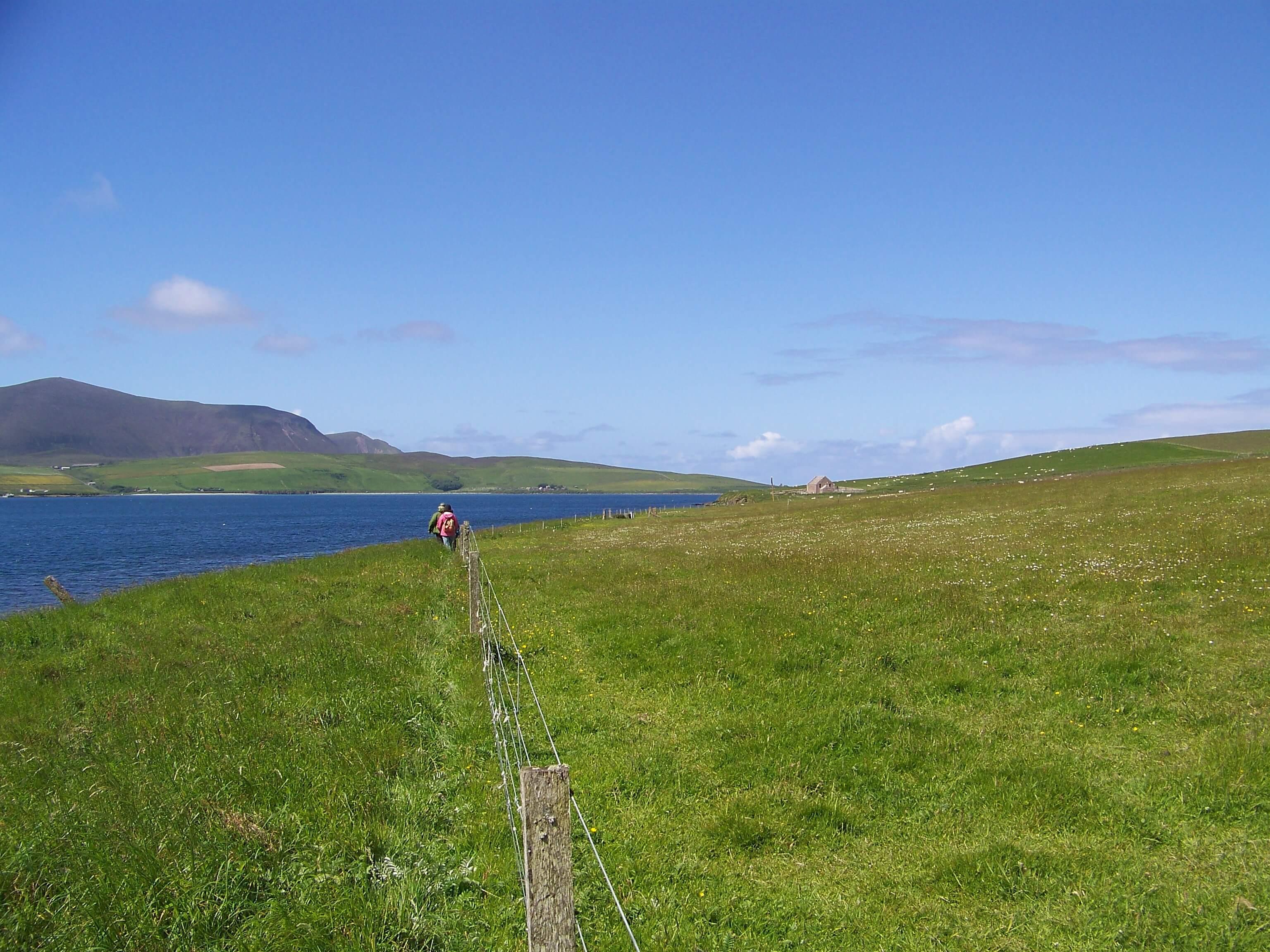 Walking around an Orkney island