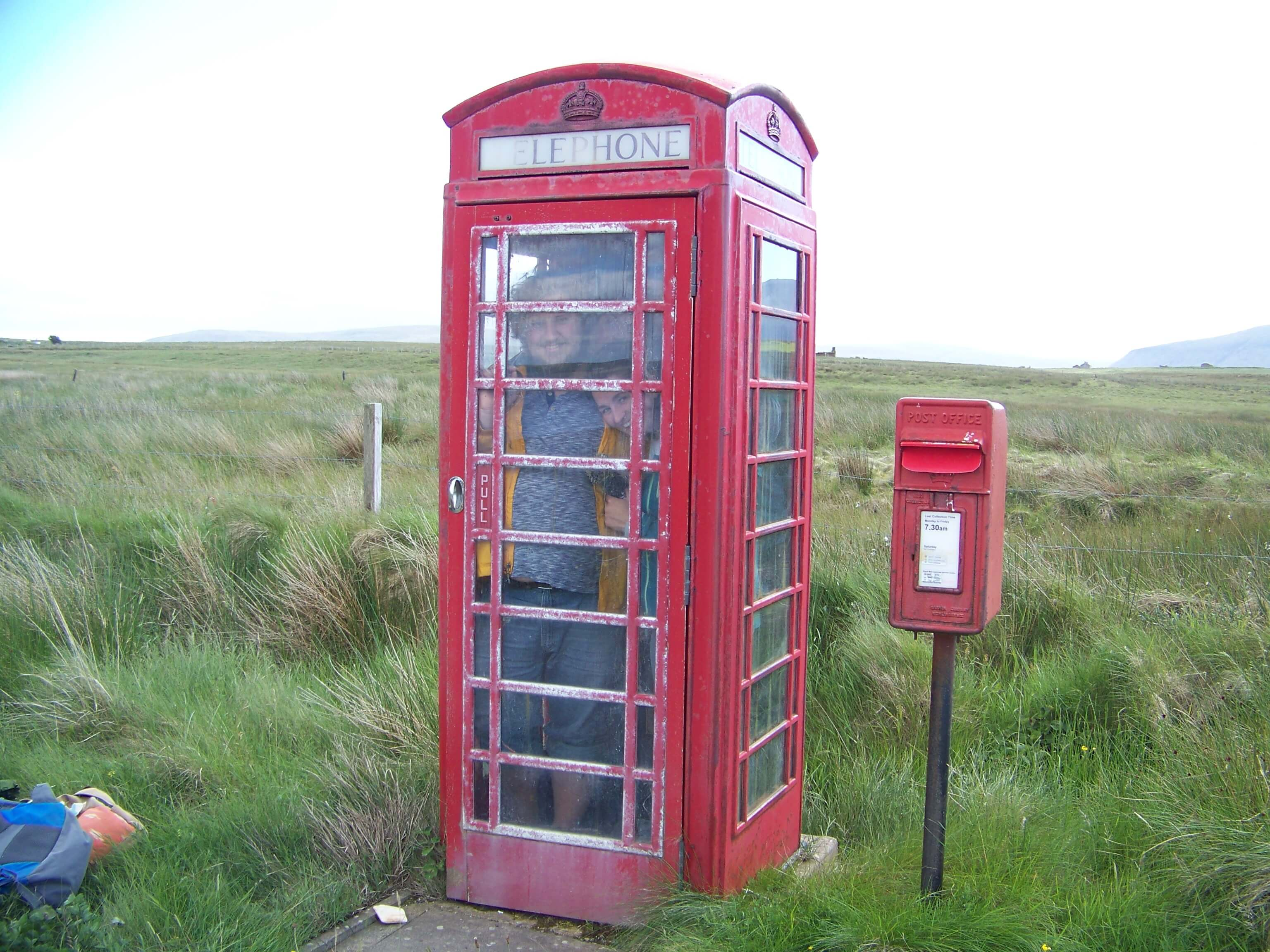 Red phone booth, Orkney island