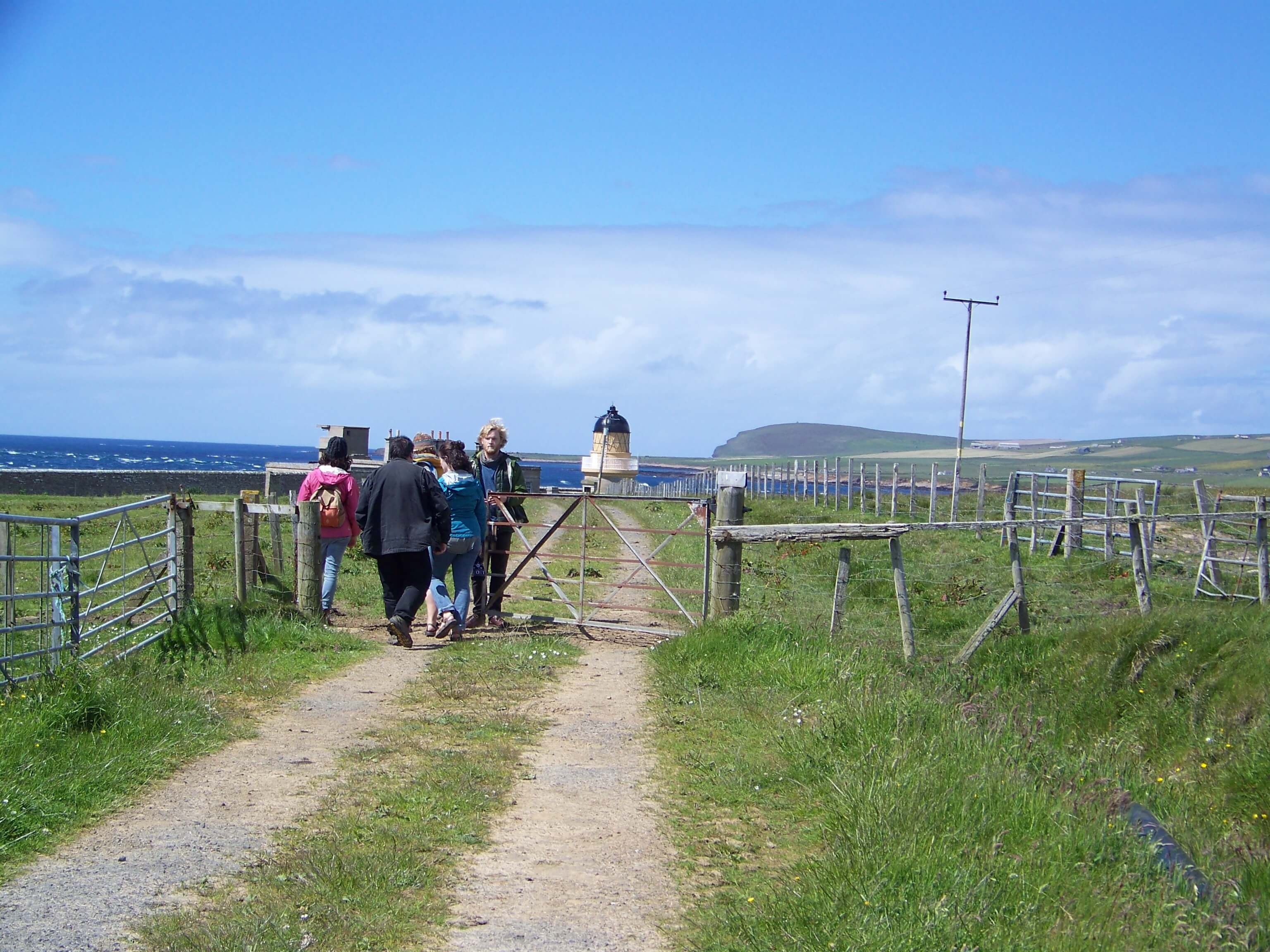 Walking to Hoy Sound Low lighthouse, Orkney