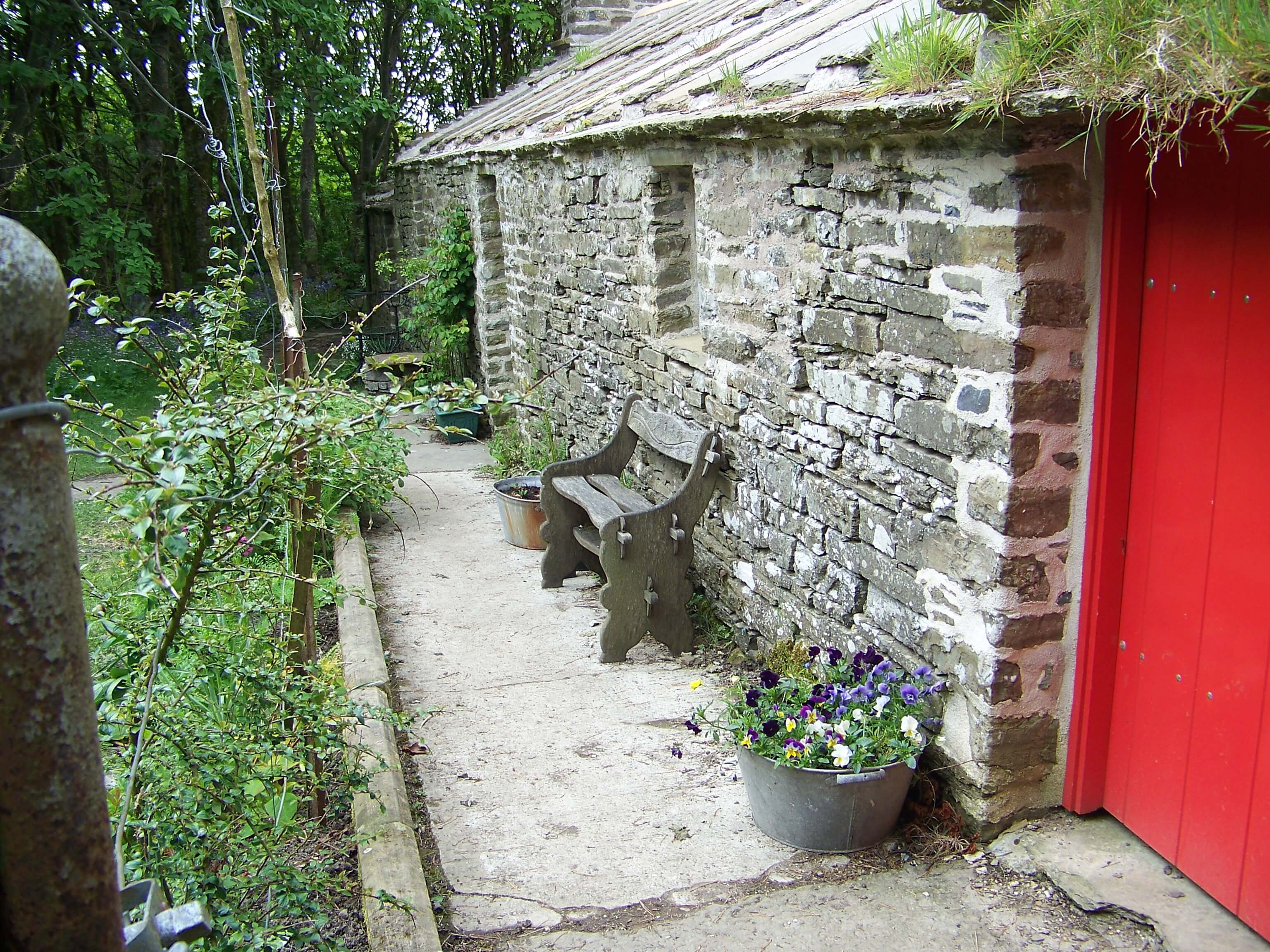 Edwin Harrold's cottage in the valley, Orkney Islands, Scotland