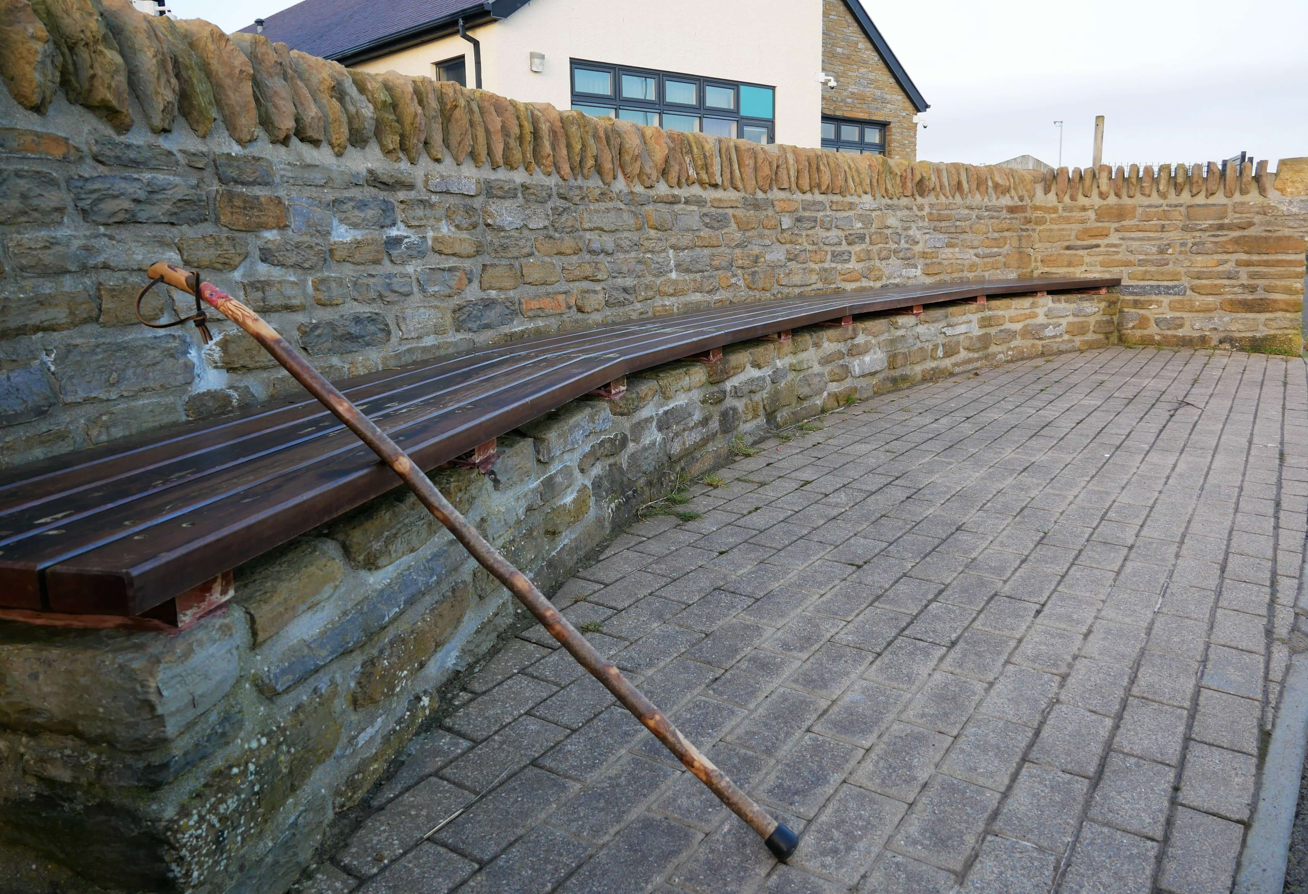 A bench in Stromness, Orkney, Scotland, UK