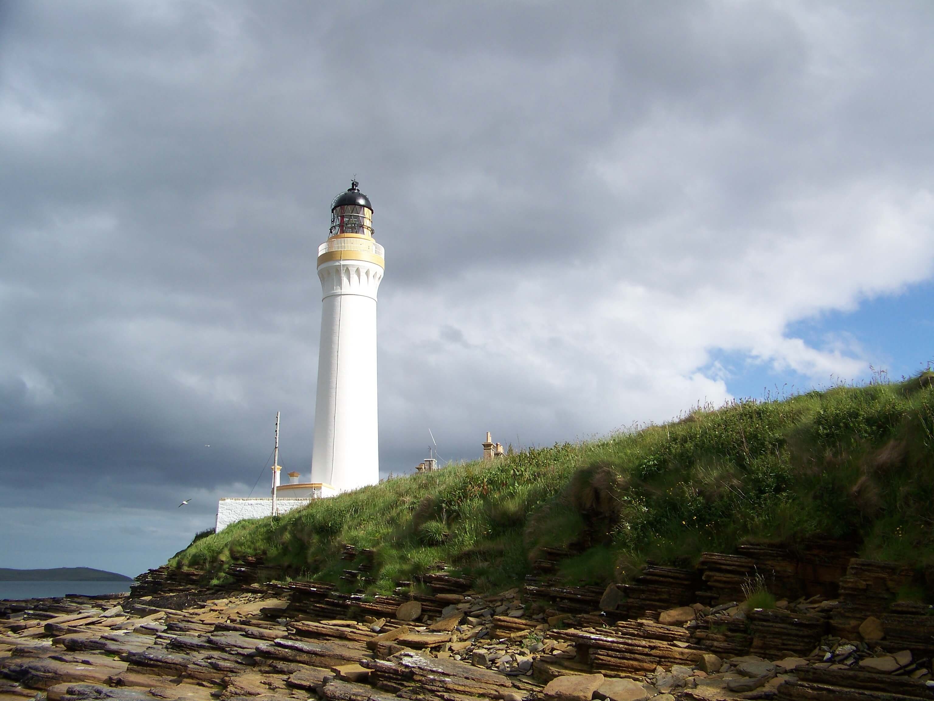 Lighthouse on the island of Graemsay.
