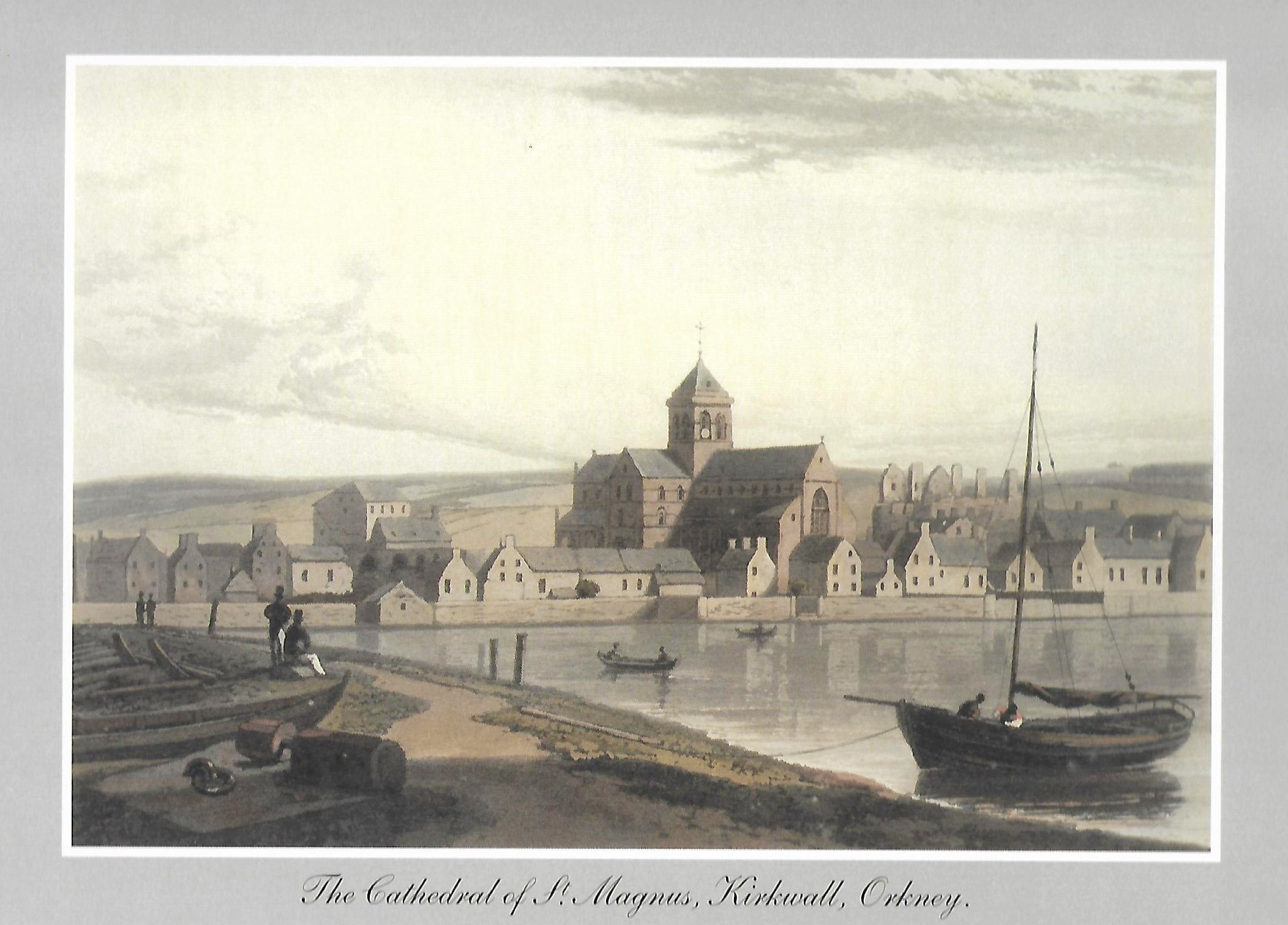 William Danielle painting of St Magnus Cathedral, Orkney Islands, Scotland, UK