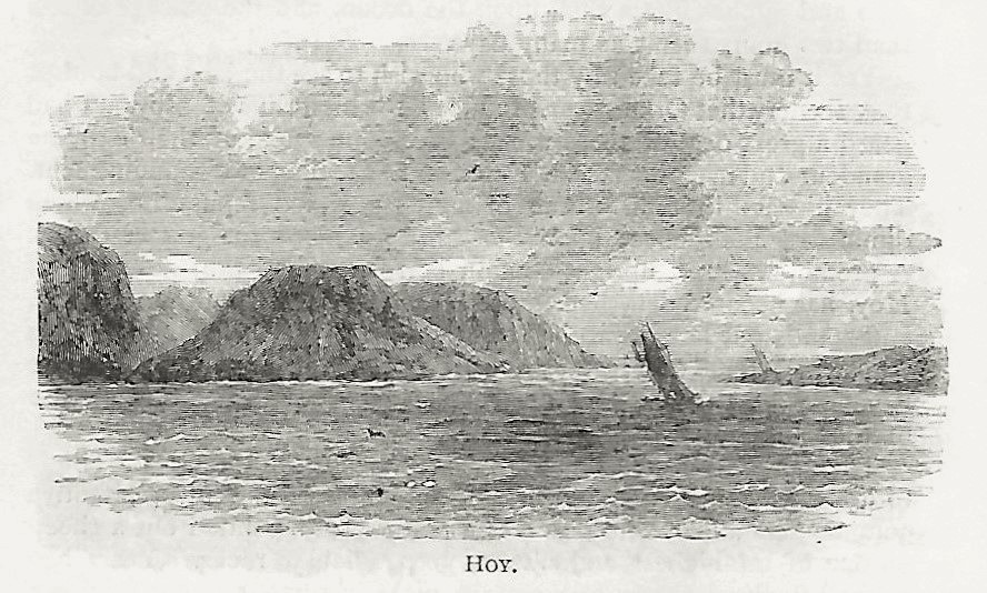 A fanciful depiction of the hills of Hoy, Orkney Islands, Scotland, UK