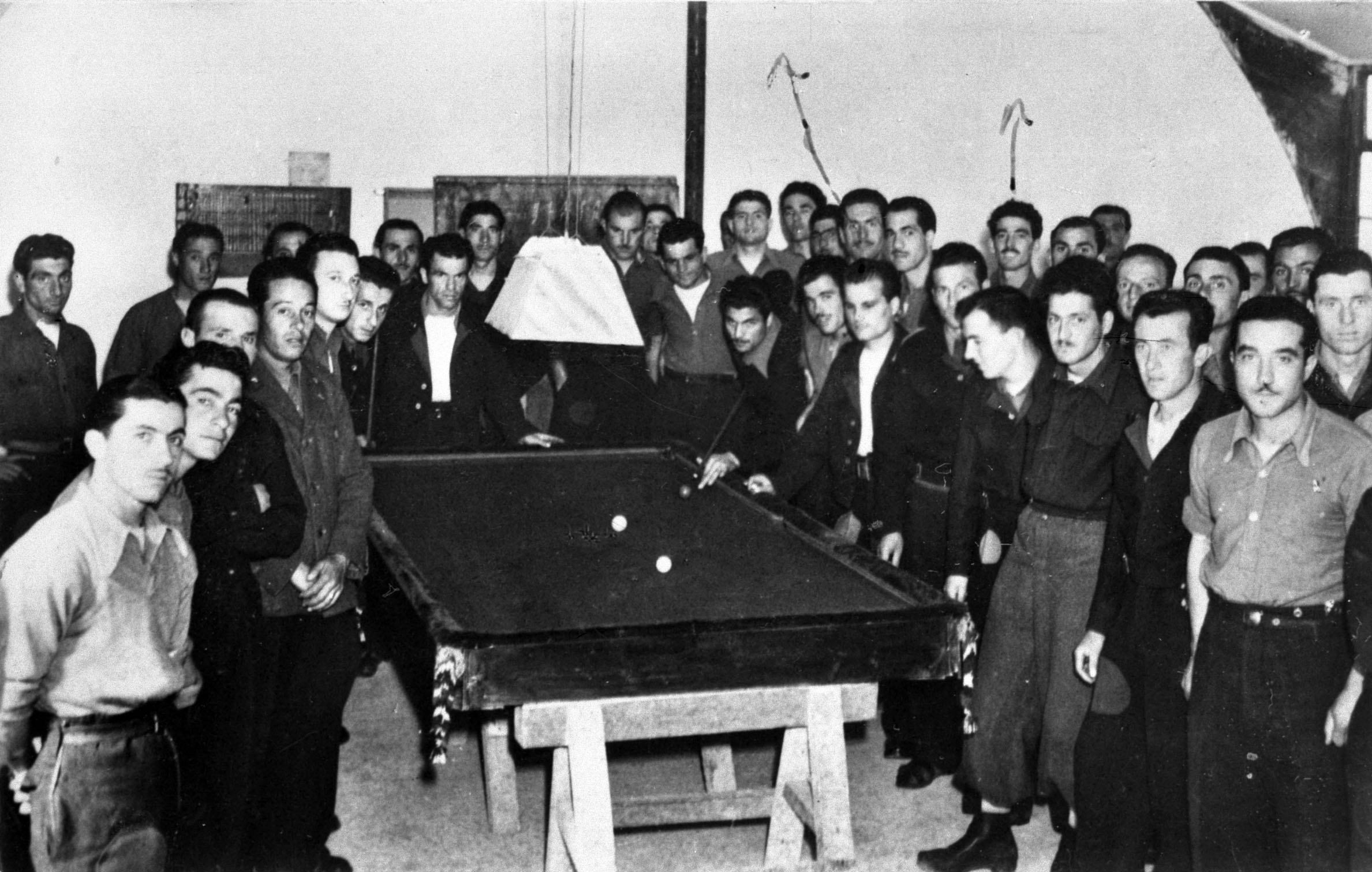 A concrete billiards table made by WWII POWs from Italy in Scotland's Orkney Islands.