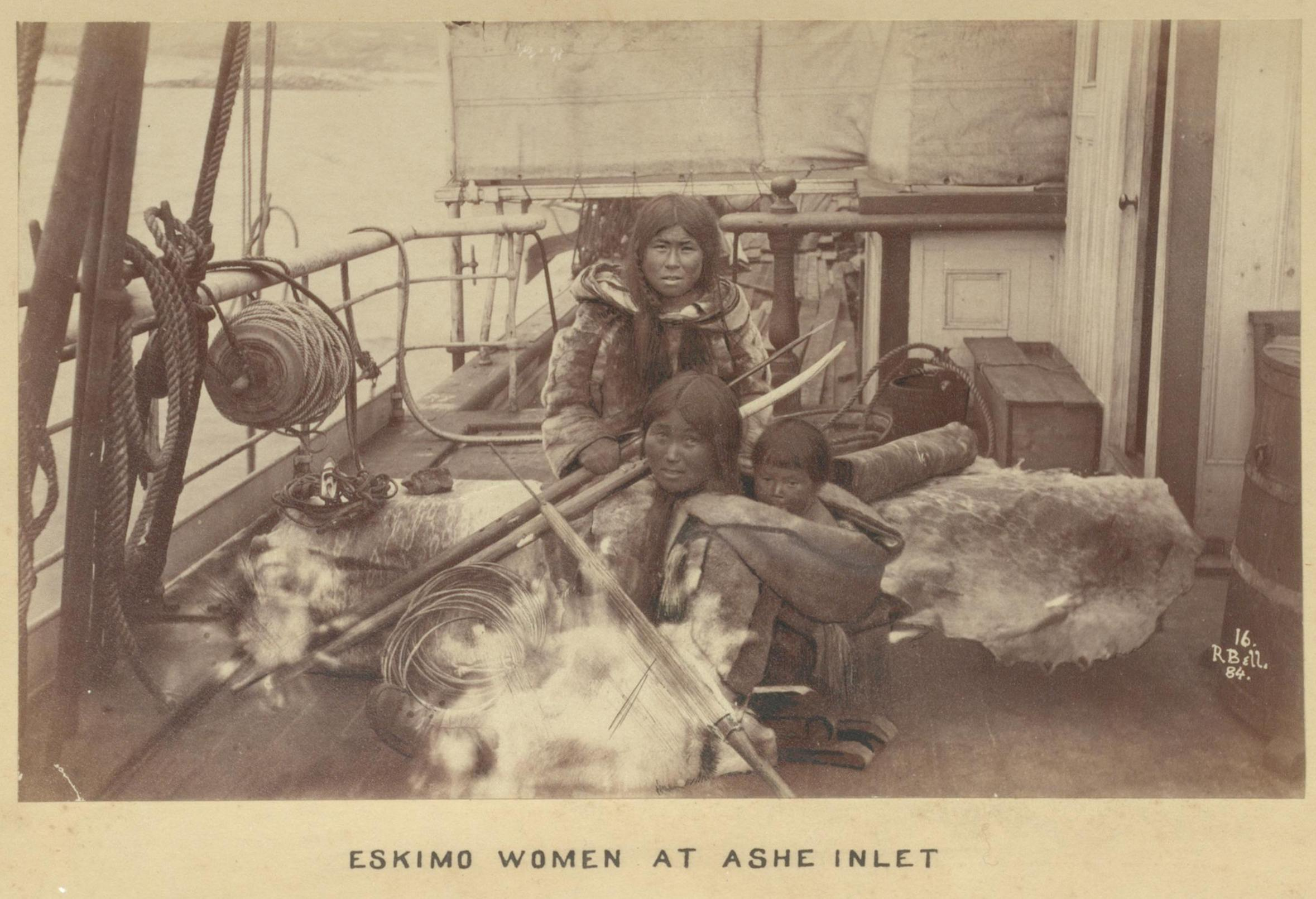 Inuit people at Ashe Inlet, Canada