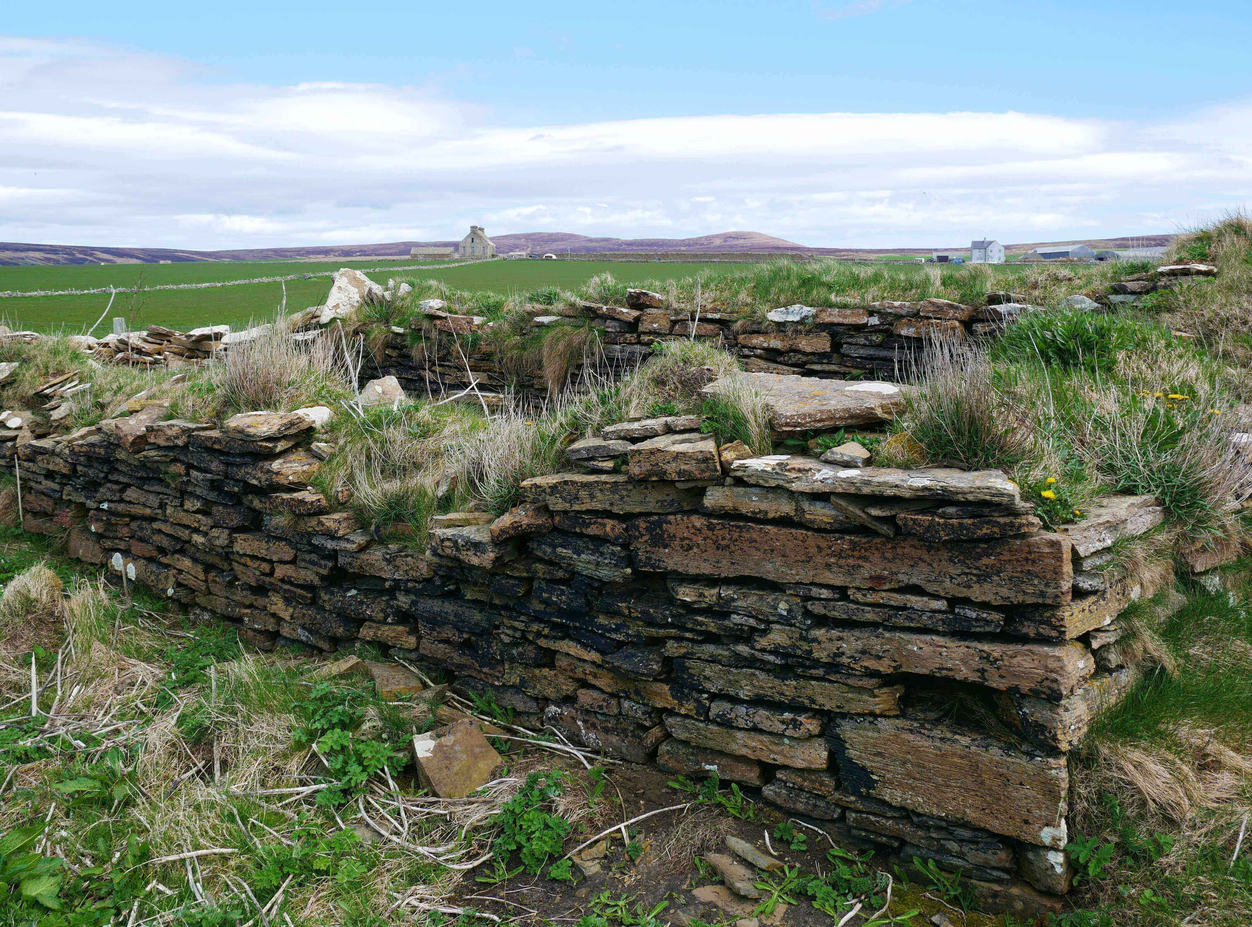 Ruinous sail store at the shore near the Hall of Clestrain, Orkney Islands, Scotland.