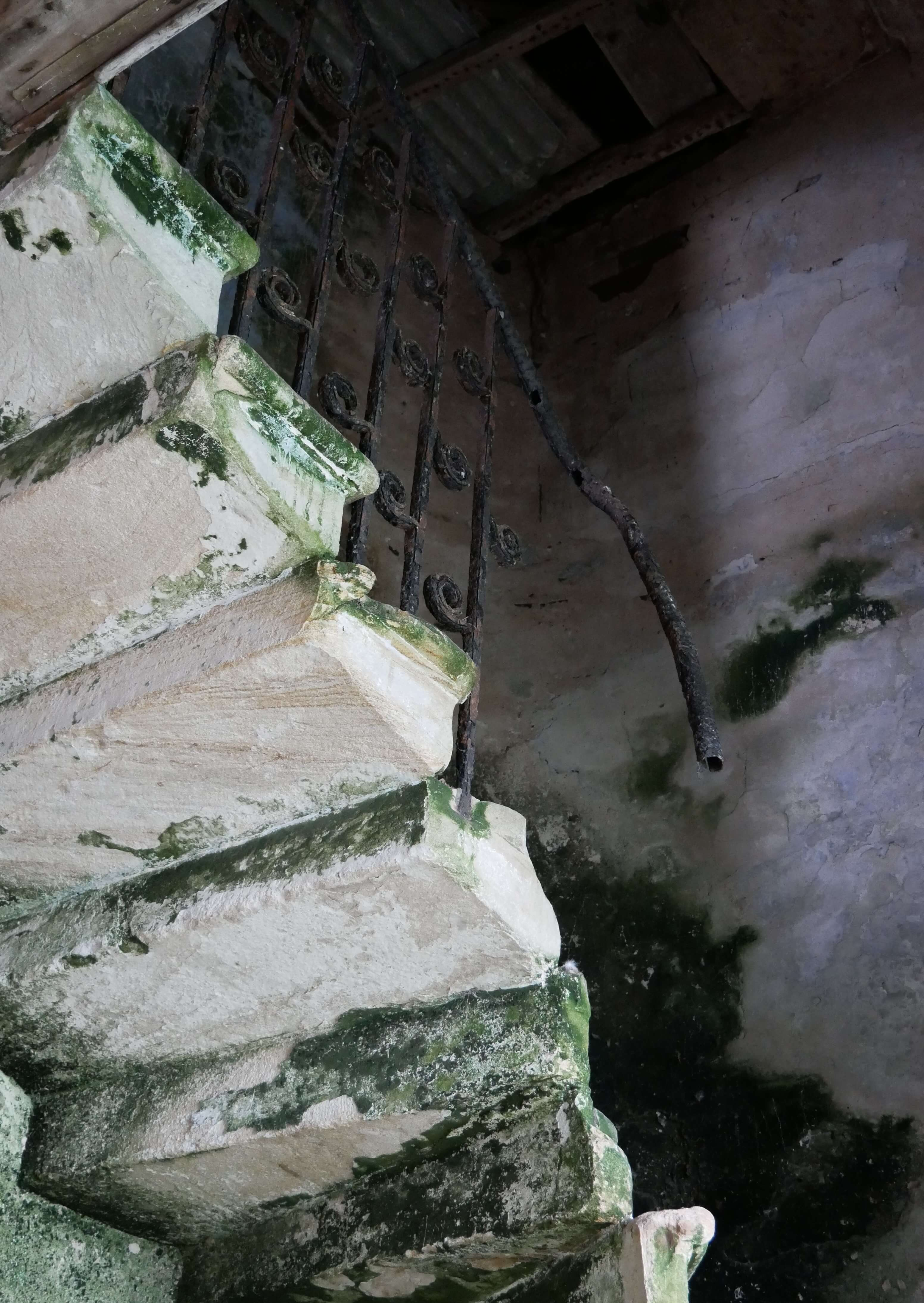 Staircase in the Hall of Clestrain, the Rae's family house, Orkney, Scotland, UK