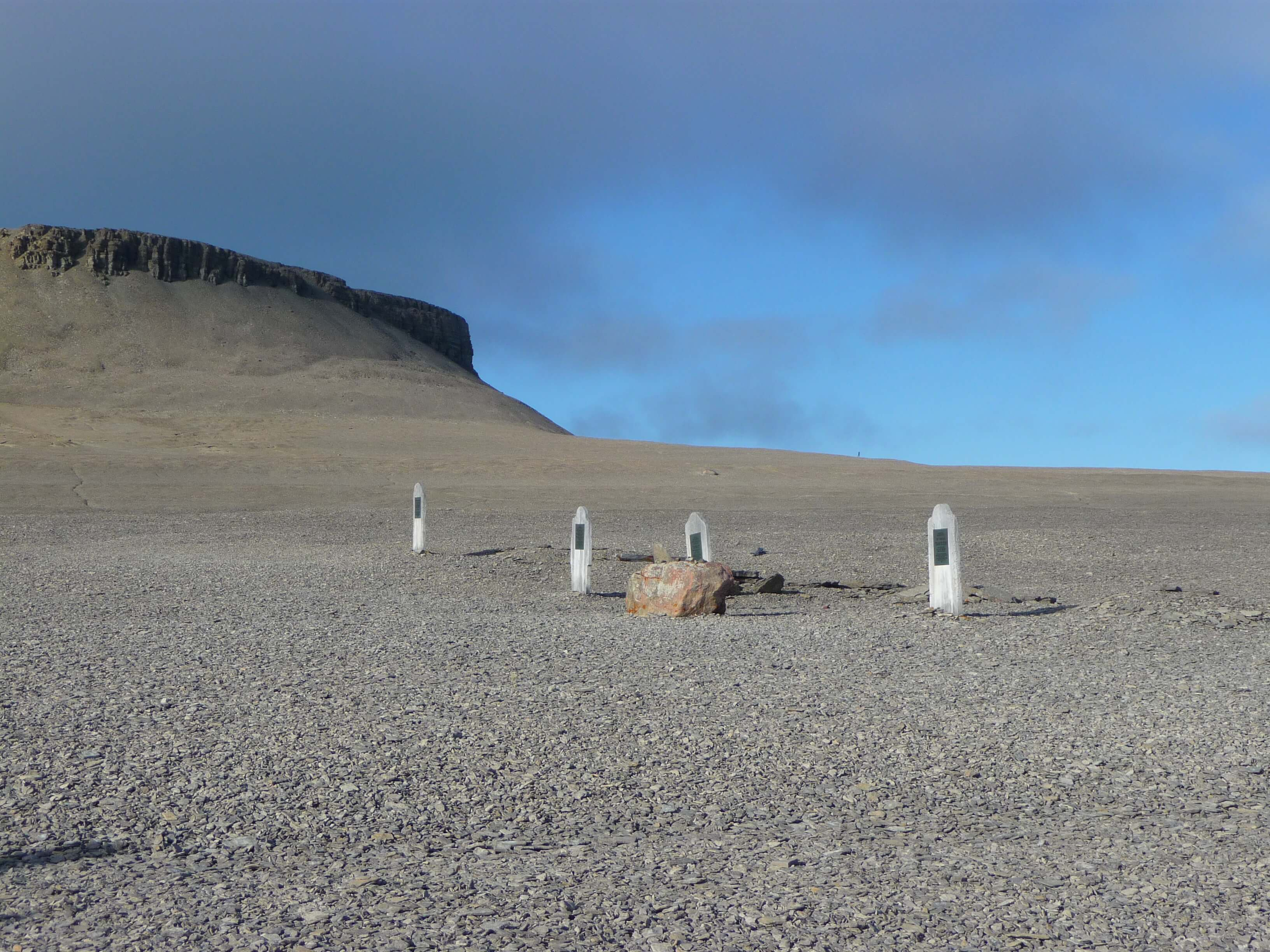Some of the first Franklin casualties in their resting place on Beechey Island