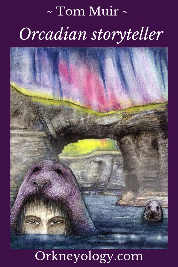Katherine Soutar's selkie illustration from Tom Muir's Orkney Folk Tales, Orkney Islands, Scotland. See more at www.Orkneyology.com