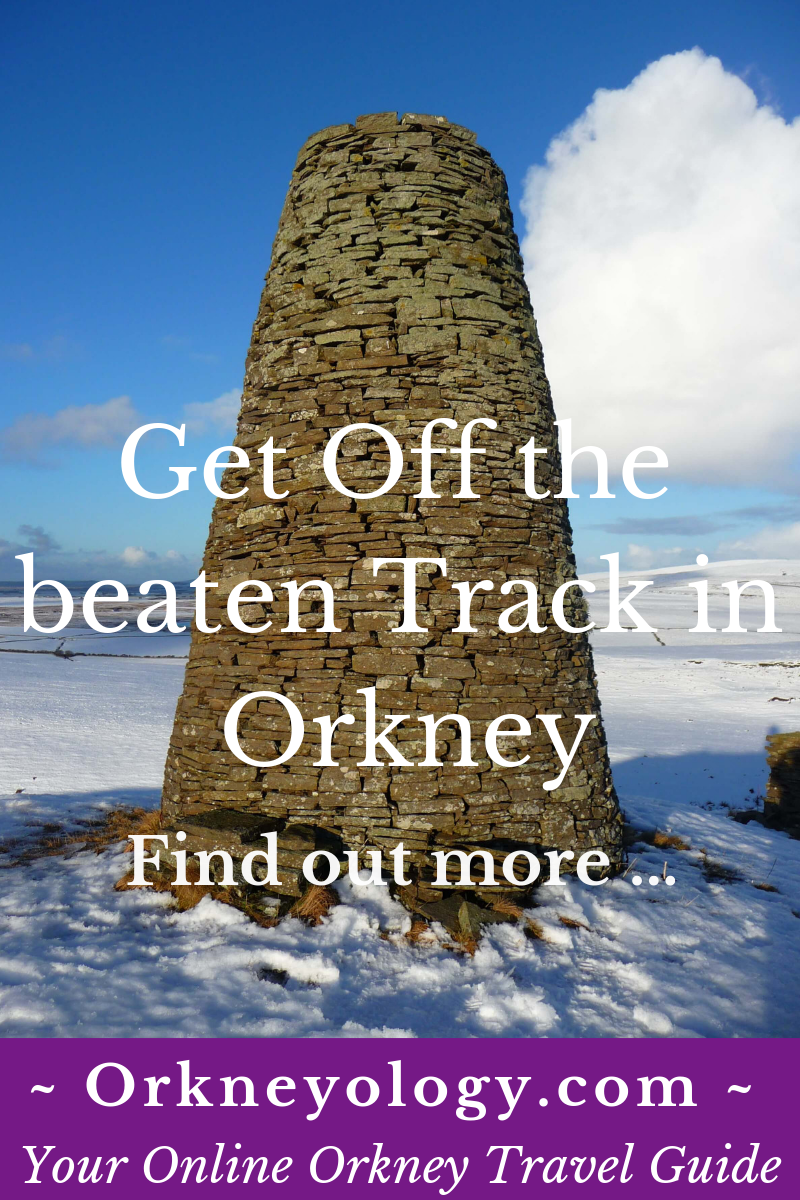 Visit off the beaten path beautiful places in Scotland's Orkney Islands. This one is called Buckles Tower by locals, and it was built by a shepherd boy long ago. Find the story at Orkneyology.com