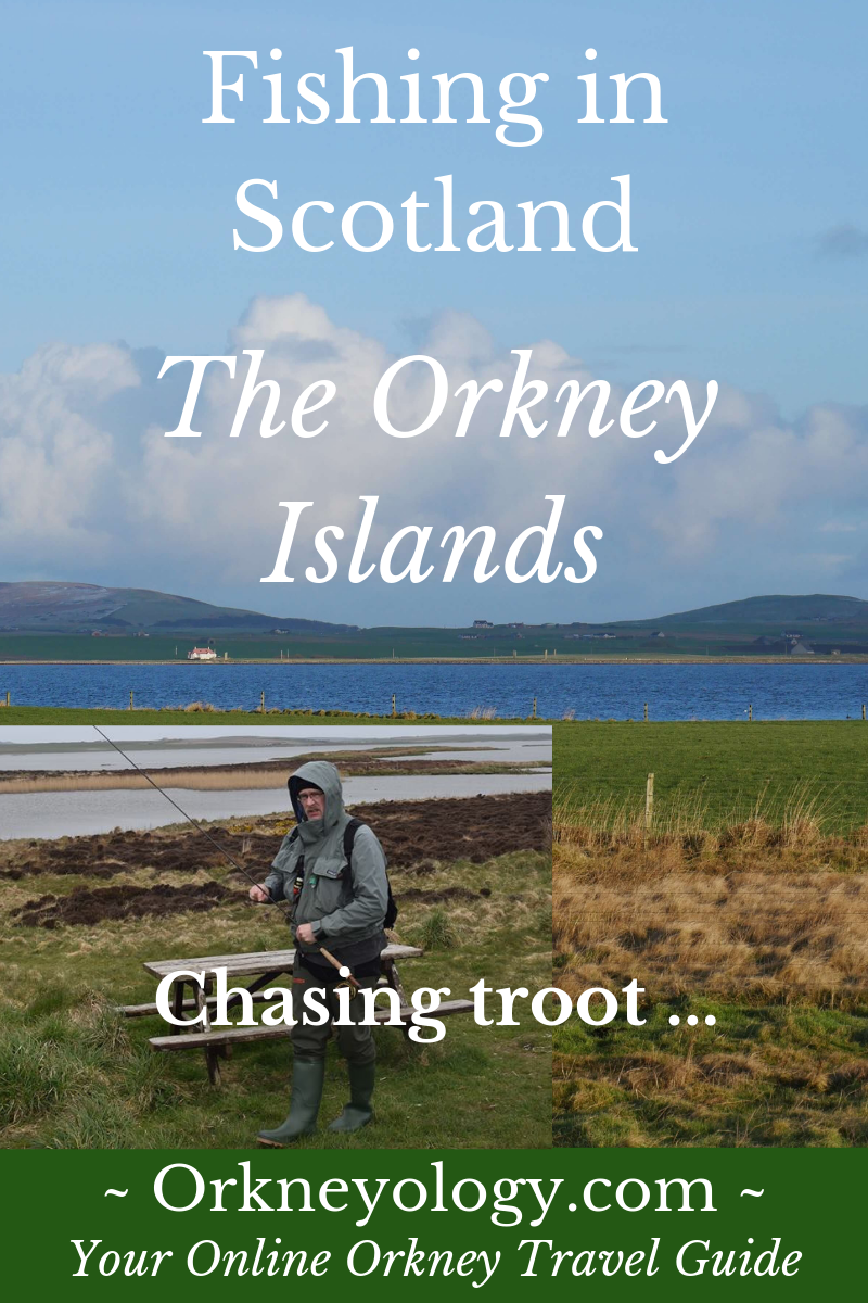 Fishing in Orkney pin - Orkneyology.com
