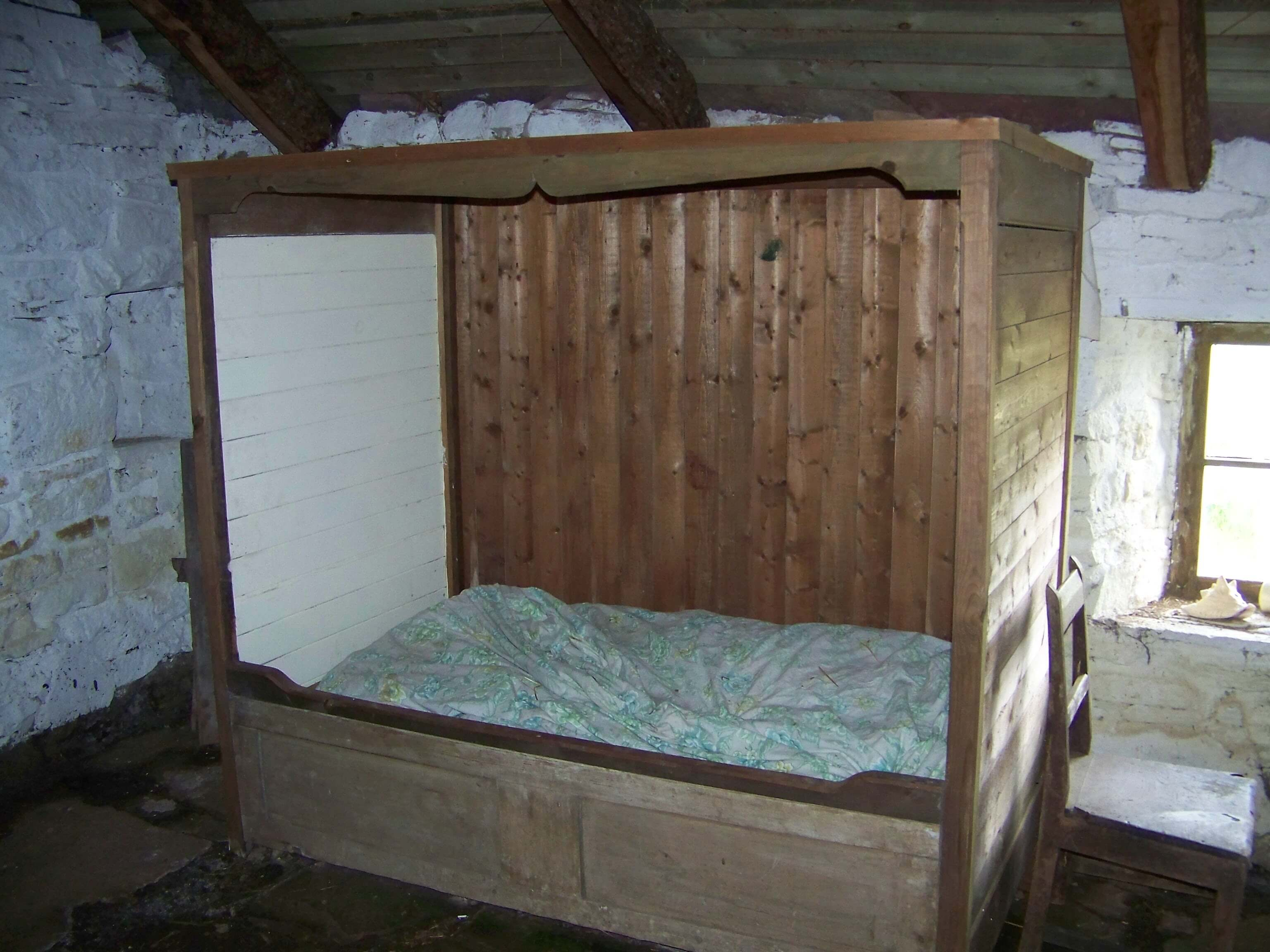 A box bed in the Craa's Nest croft museum, Hoy, Orkney
