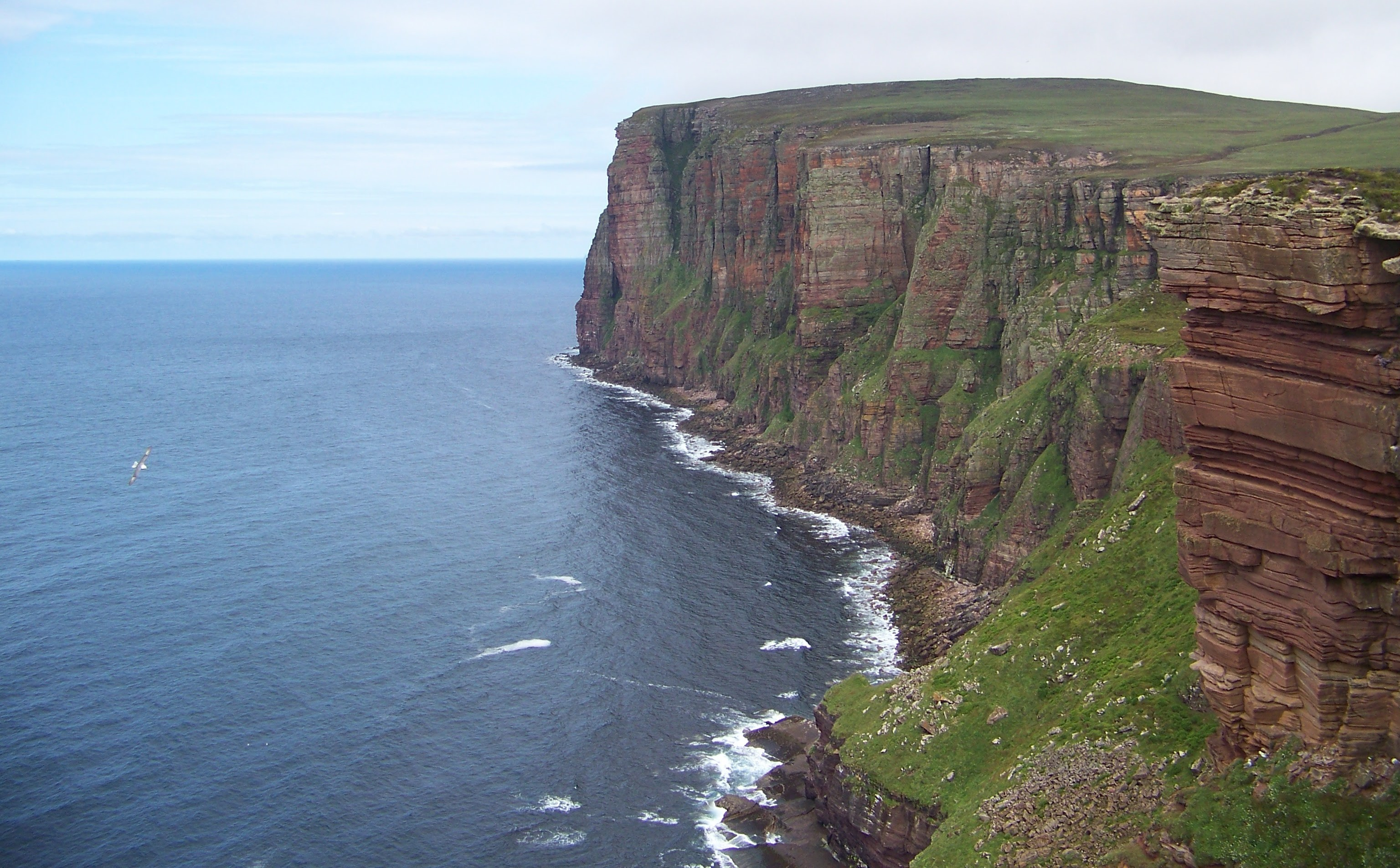 St. John's Head, Hoy, Orkney - the highest vertical sea cliff in Britain.