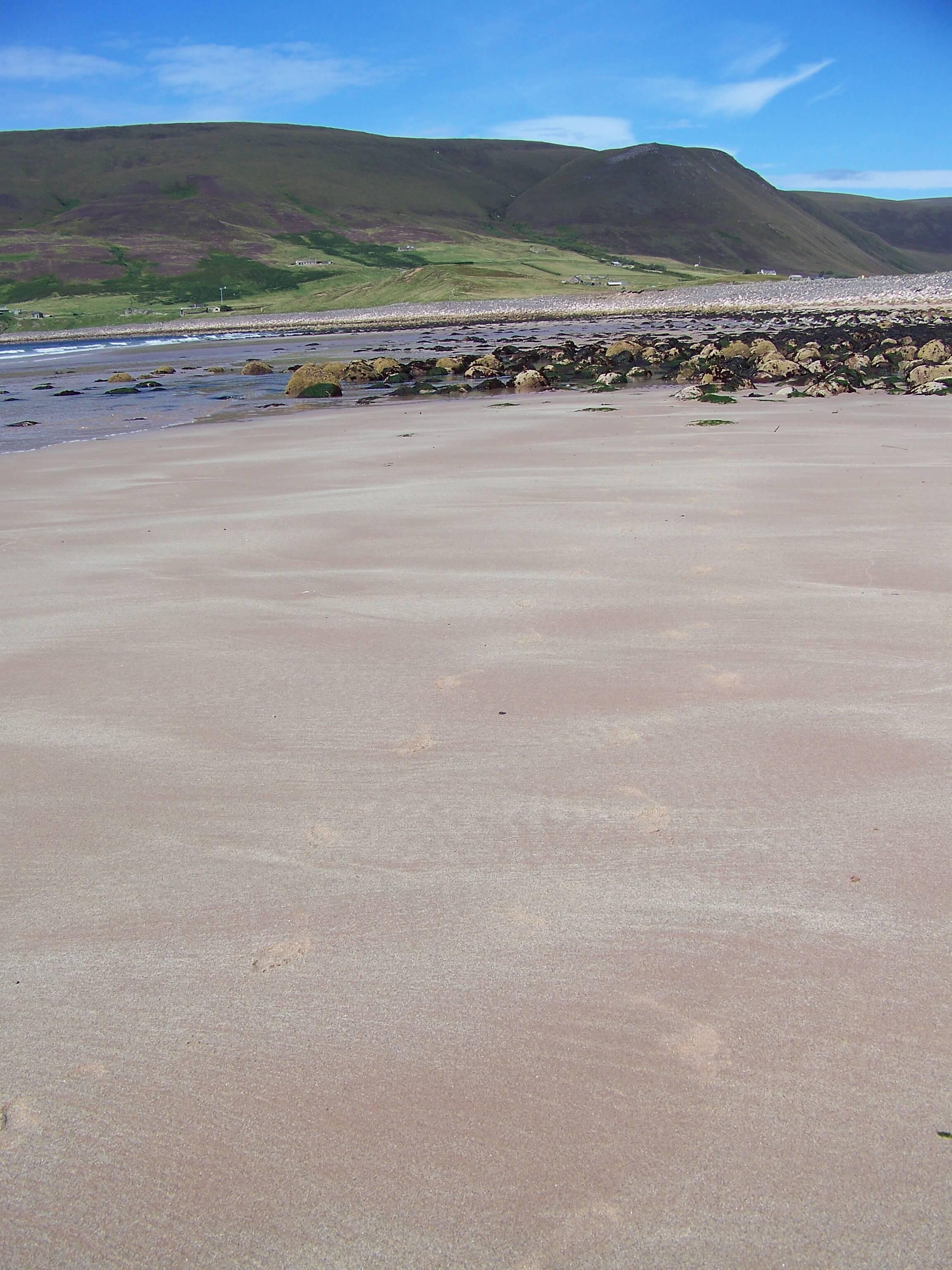 Pink sands of Rackwick Beach, Hoy, Orkney
