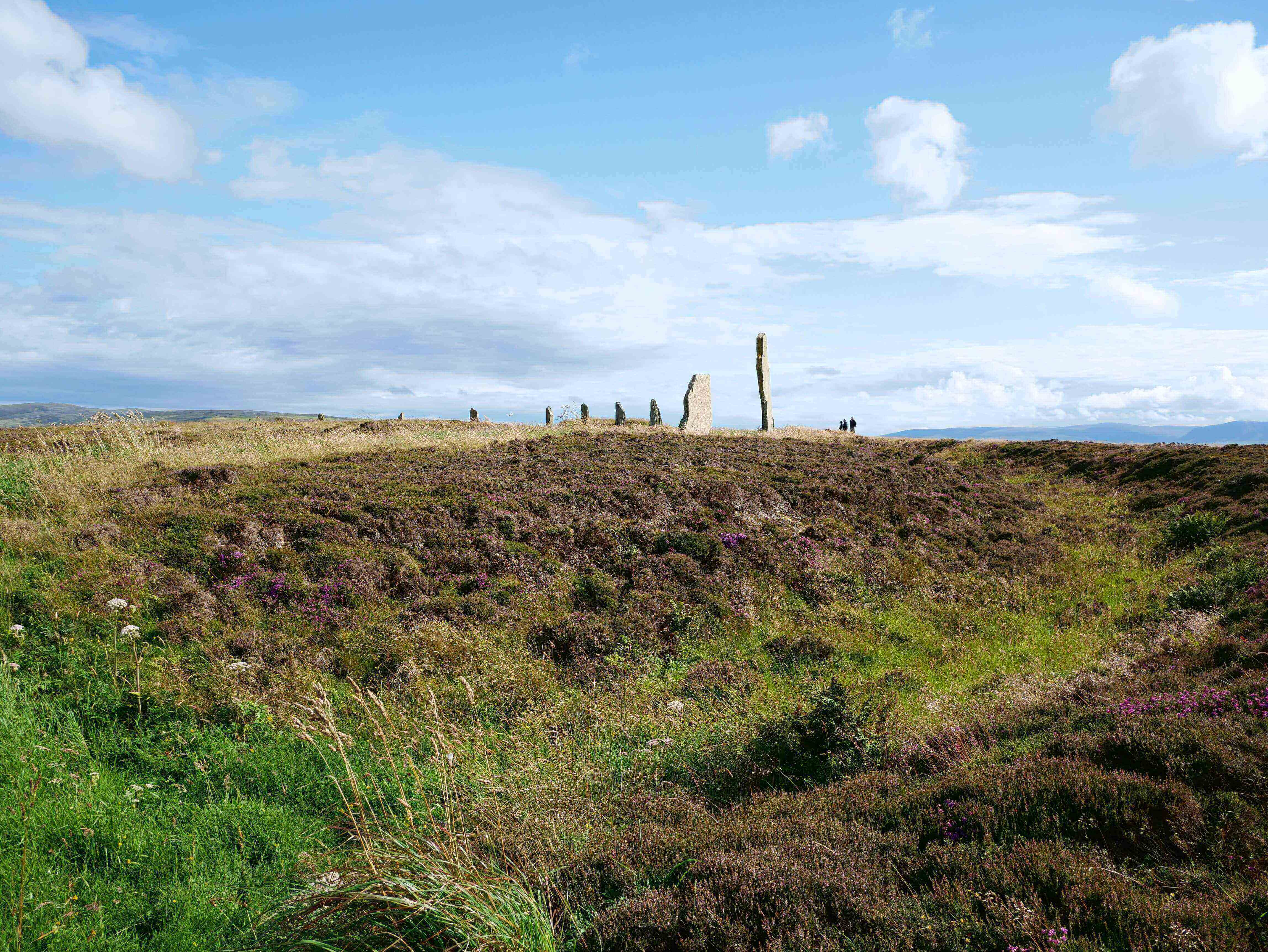 The ditch surrounding the Neolithic stone circle at Broadgar, Orkney Islands, Scotland, UK. www.orkneyology.com
