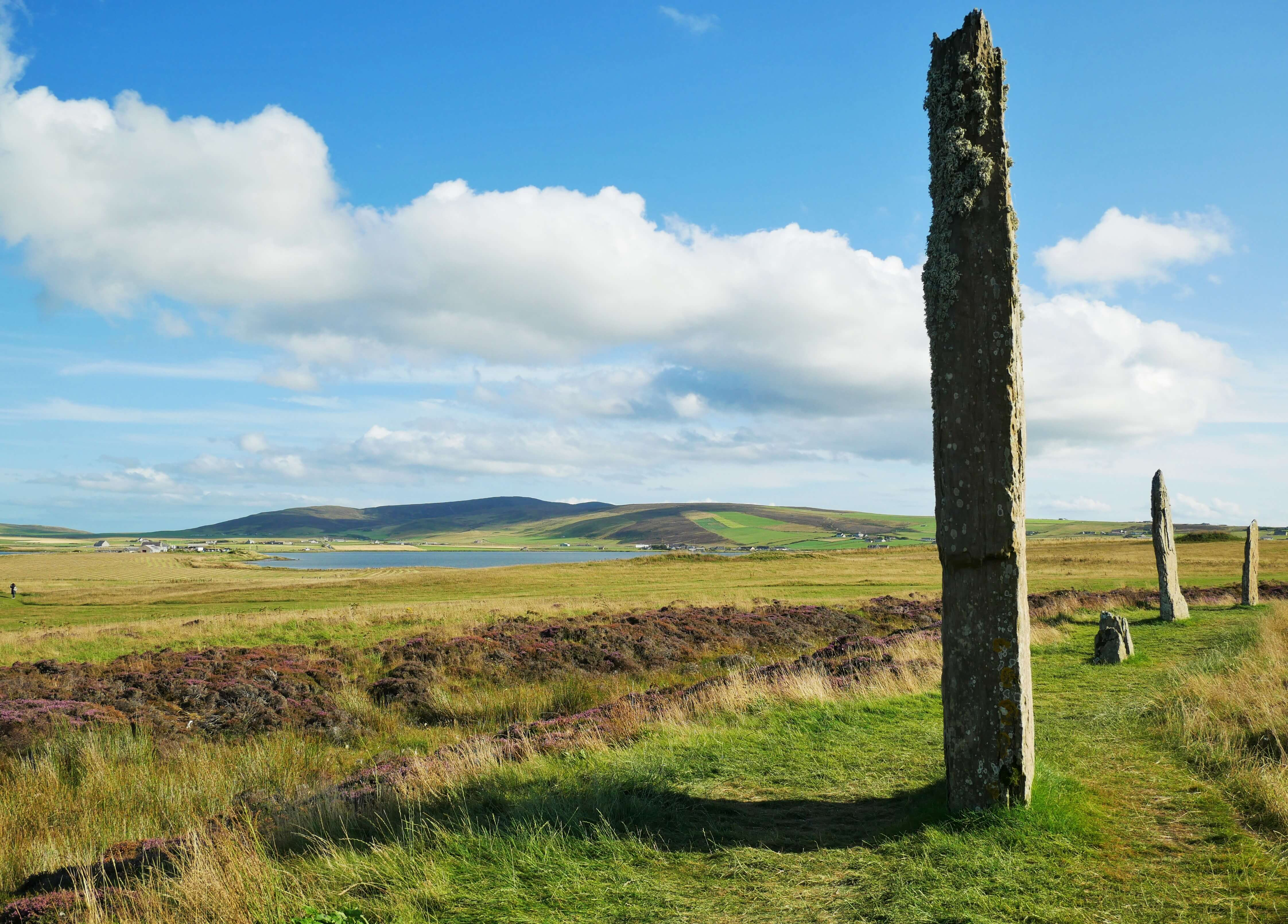 Inspiring view at Orkney's famous standing stones at Brodgar.  Orkney Islands, Scotland, UK. www.orkneyology.com