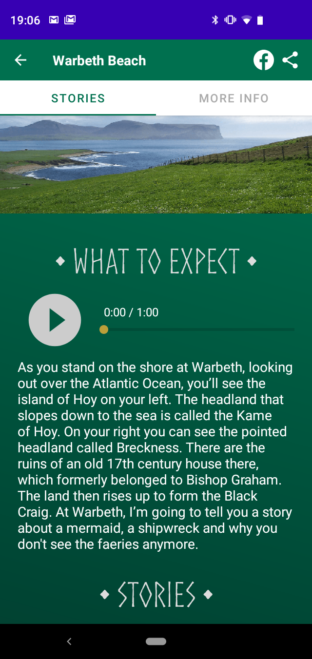 Free Orkney storytelling Android app of Scotland's Orkney Islands' West Mainland - discover Orkney through the stories of Orcadian storyteller Tom Muir. Orkneyology.com
