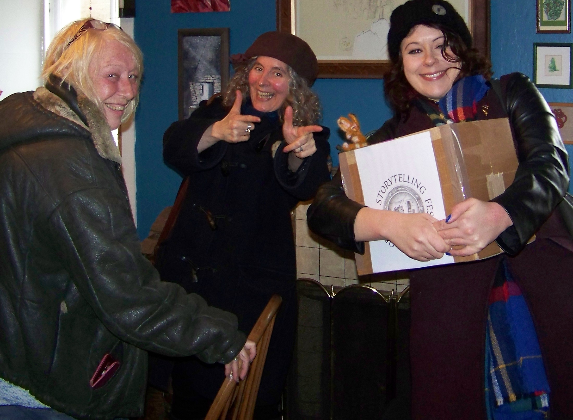 Broonies helping at the annual storytelling festival in Scotland's Orkney Islands
